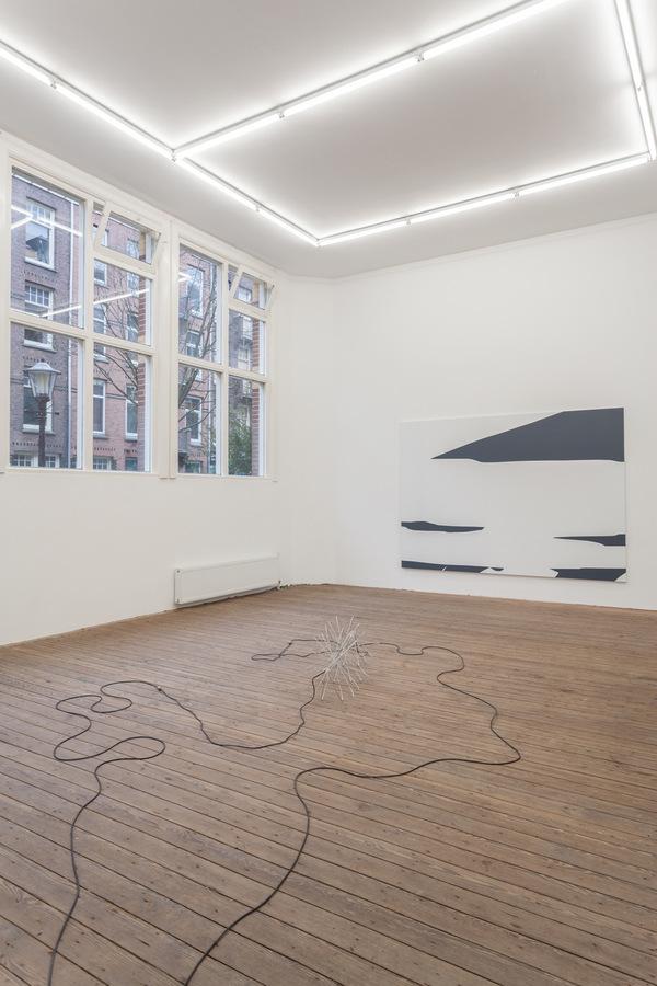 Installation view; Spiros Hadjidjanos, Sara Ludy, Priscilla Tea; Galerie Gabriel Rolt (1 (2)