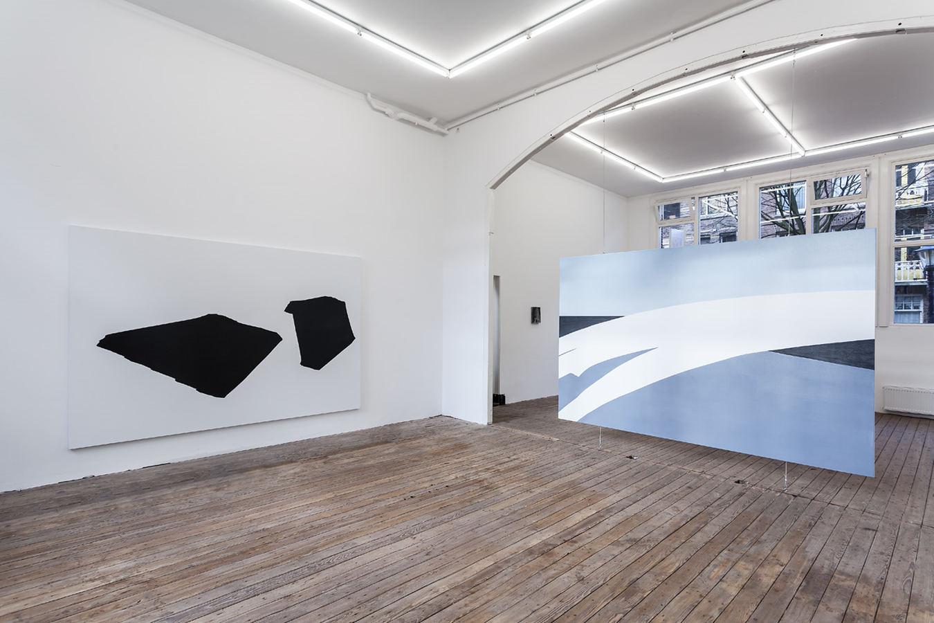 Installation view; Spiros Hadjidjanos, Sara Ludy, Priscilla Tea; Galerie Gabriel Rolt  ( (3)