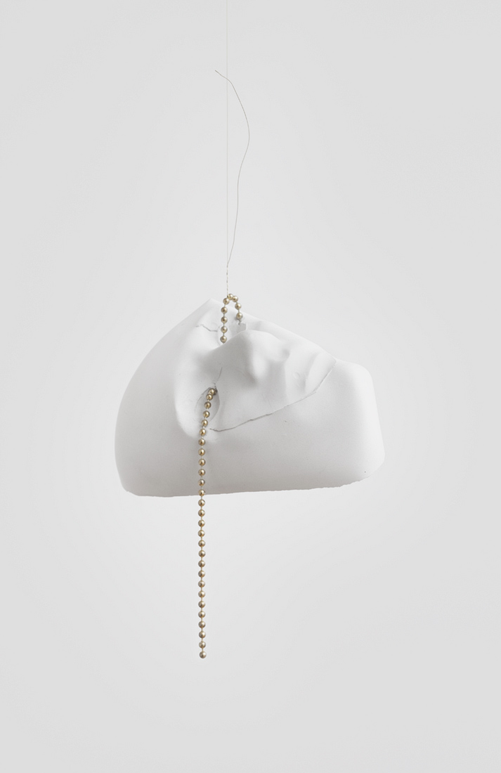 CB9886_MSC_Iris Shady Sleeper, 2015_ plaster metal chain_ 9 1_2 x 8 1_2 x 4 1_2in