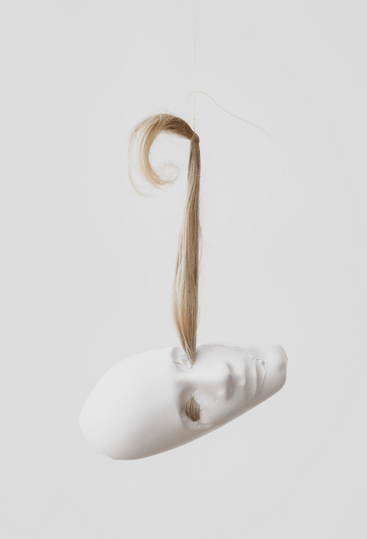 CB9888_MSC_Iris Shady, Sleeper 2015_plaster, wig_14 x 10 x 4 in
