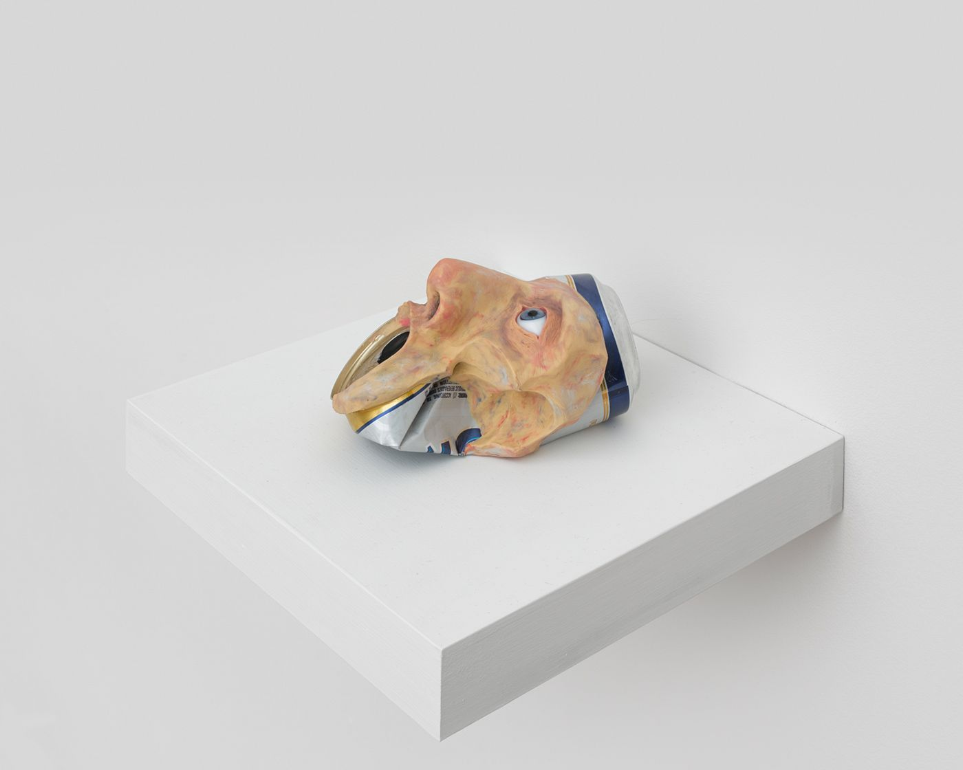 CB9892_MSC_John Brown, Untitled (Colt 45)_Aluminum can, plasticine, glass eye_ 3 x 6 x 3 12 in
