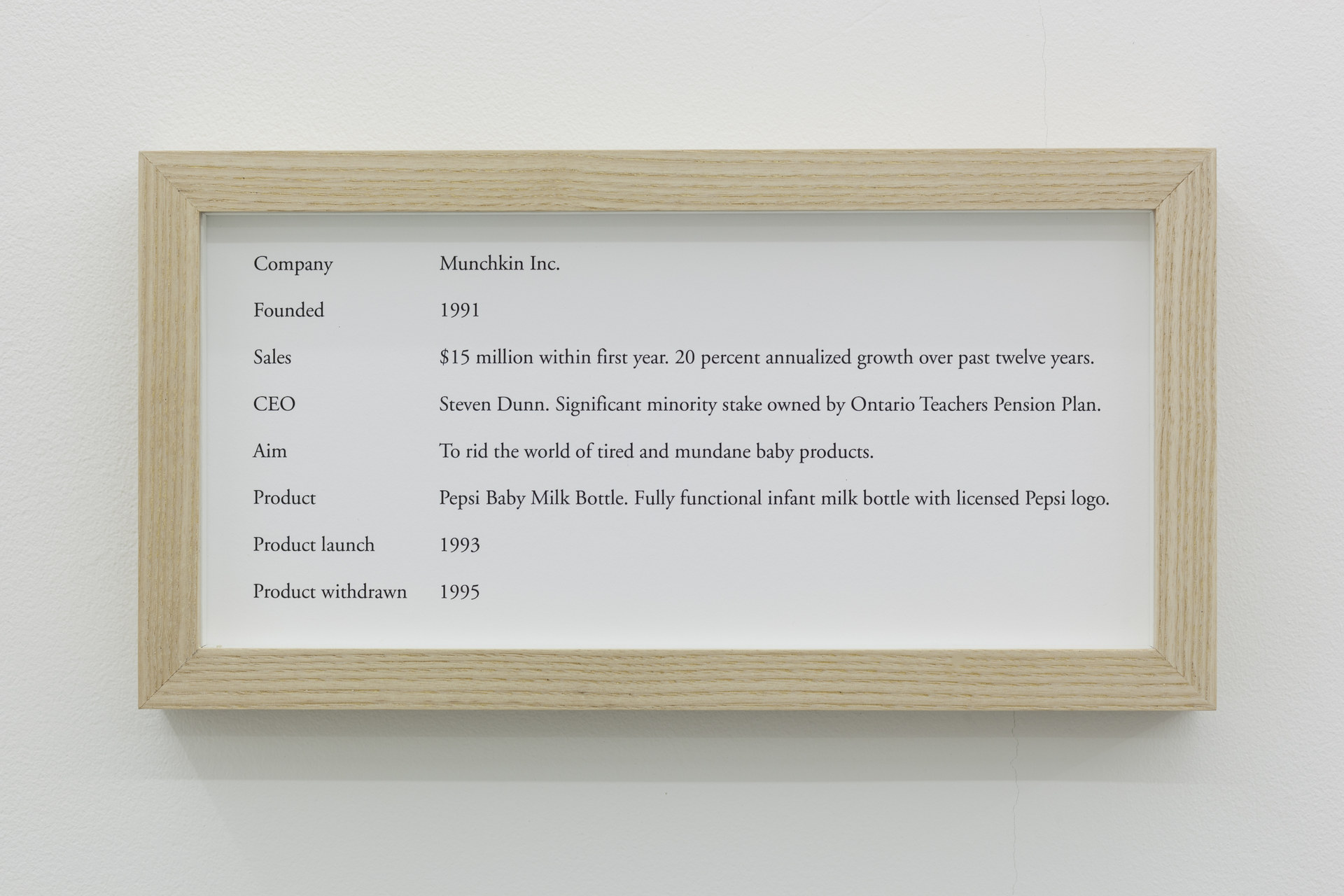 Maryam Jafri, ÔÇÿProduct Recall - An Index of InnovationÔÇÖ, 2014, framed texts, photographs, plinths, objects, installation dimensions variable - 3
