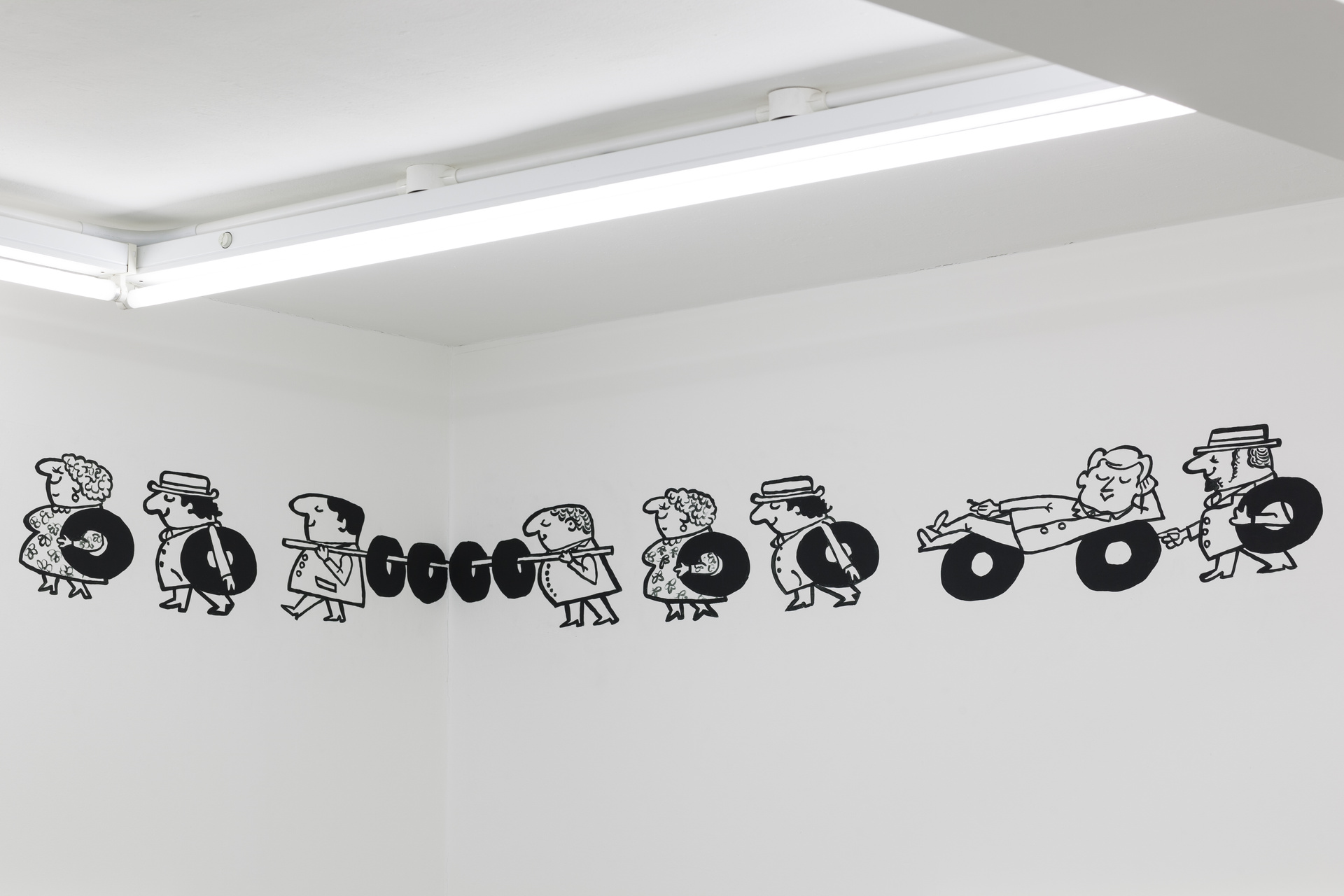 Sophie Lee, ÔÇÿGod speed the ploughÔÇÖ, 2015, wall drawing, acrylic paint, installation dimensions variable