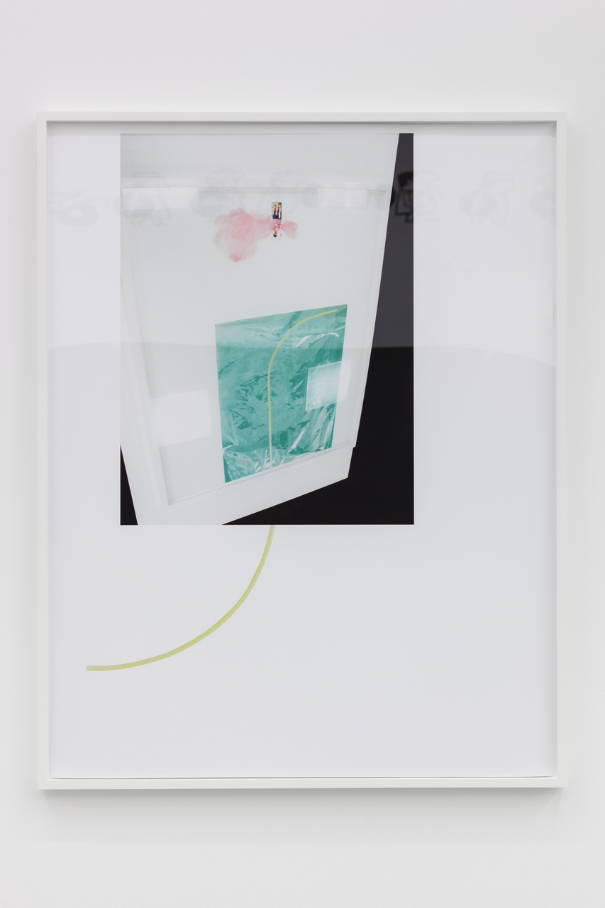 Lisa Holzer, Spaghetti passing under Ei passing under spaghetti, 2015, Pigment print on cotton paper, 92x72cm