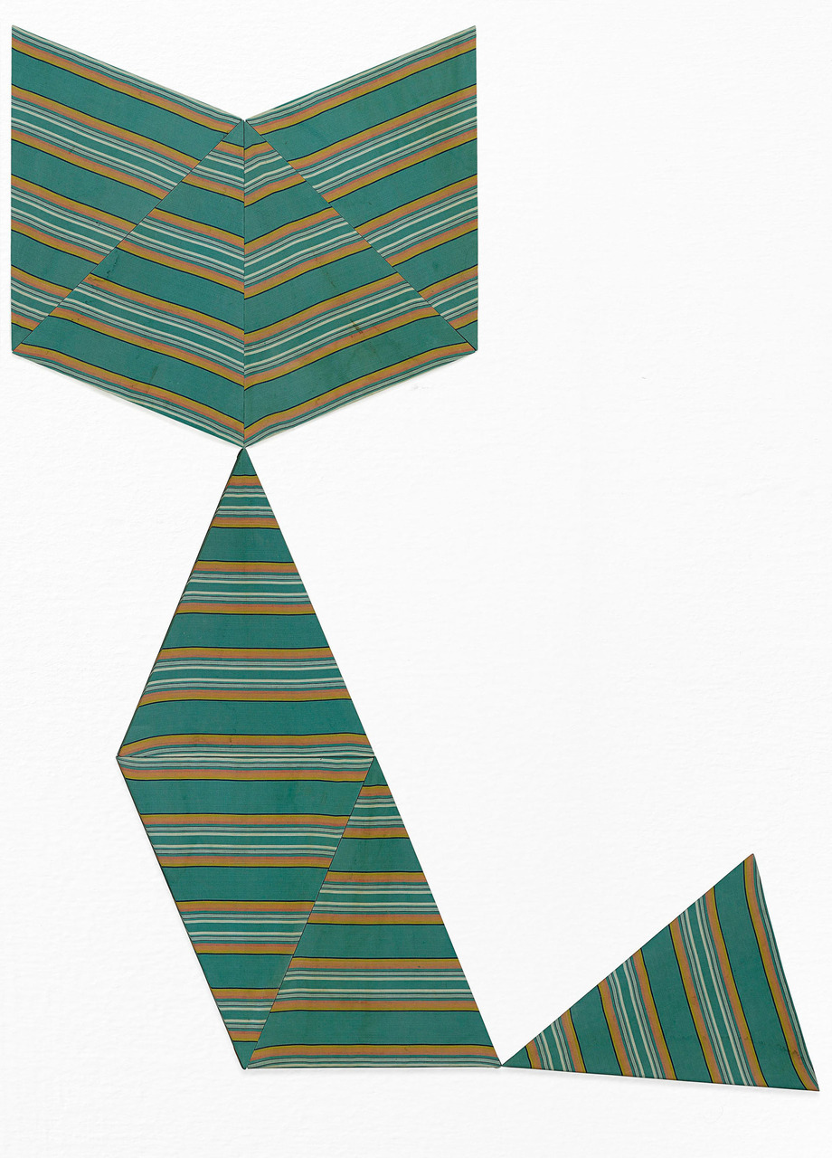 Alek O_2013_Tangram (Cat)_245x195cm_stretched fabric from a parasol_2015-ao-06