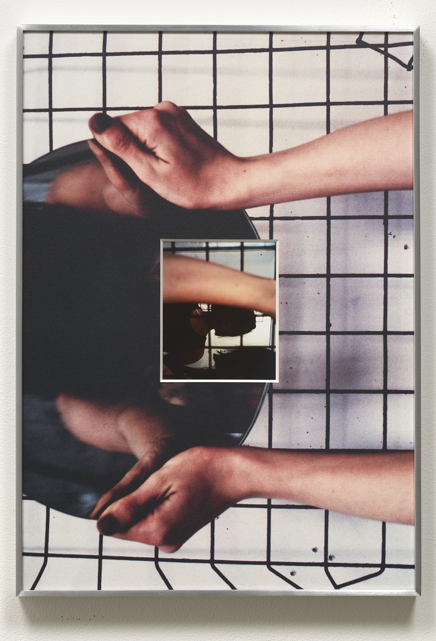 17.Olson_a marker of space between arms and hands was hands, 2015_Inkjet print, and UV inkjet printed matboard in aluminum frame_20 x 14 inches