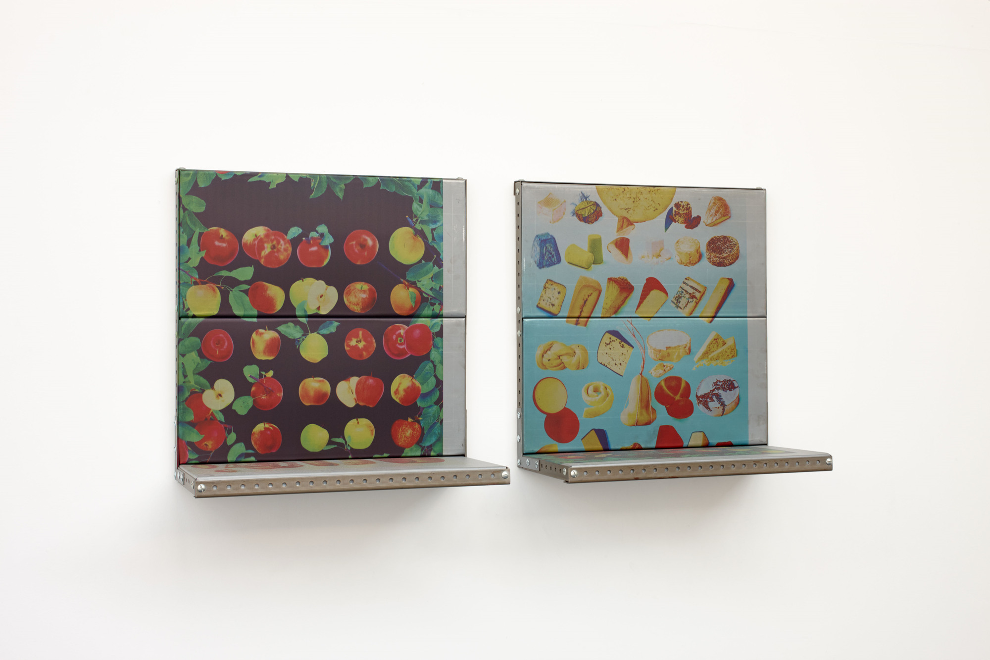 Zak Kitnick - Courses of Action (2_3 Apple, 1_3 Bread), 2013 _ Courses of Action (2_3 Cheese, 1_3 Apple), 2013 (a)