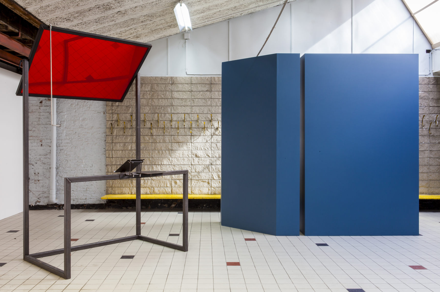 Céline Condorelli, 'Additionals (Structure for Public Speaking), 2012-2013, in 'The Corner Show', installation view, Extra City Kunsthal, 2015 © We Document Art