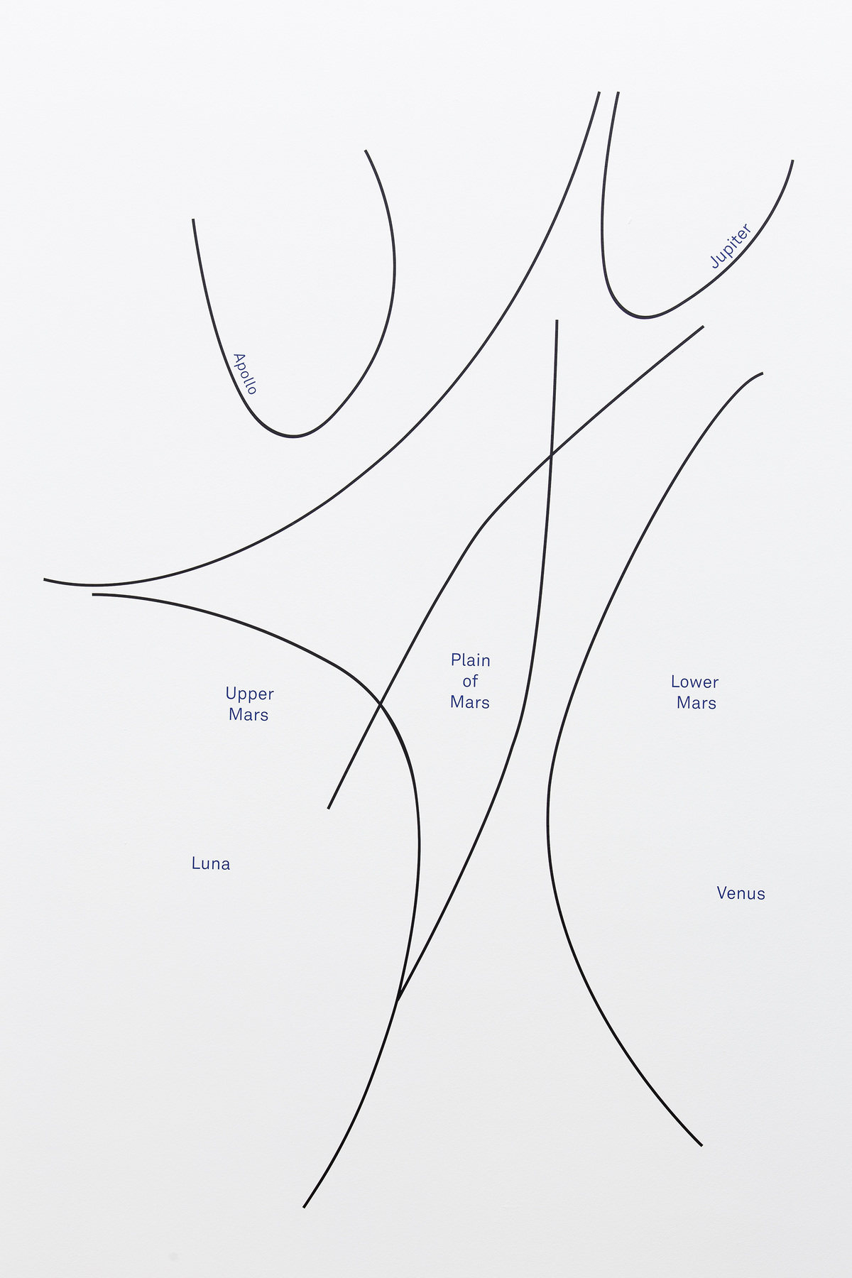 Hand geography, 2015, sticker, 125 x 185 cm