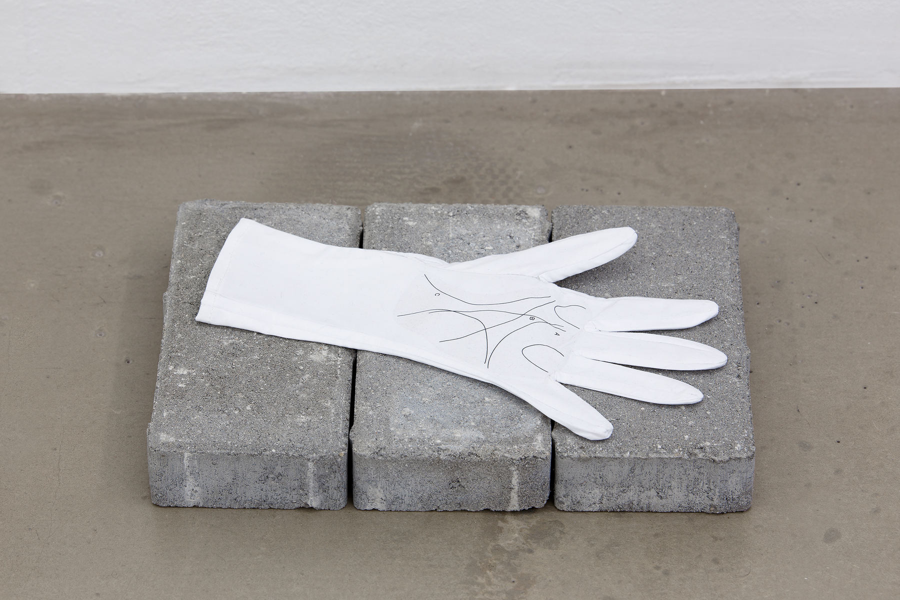 Palmistry, 2015, cotton glove, 14 x 27 cm