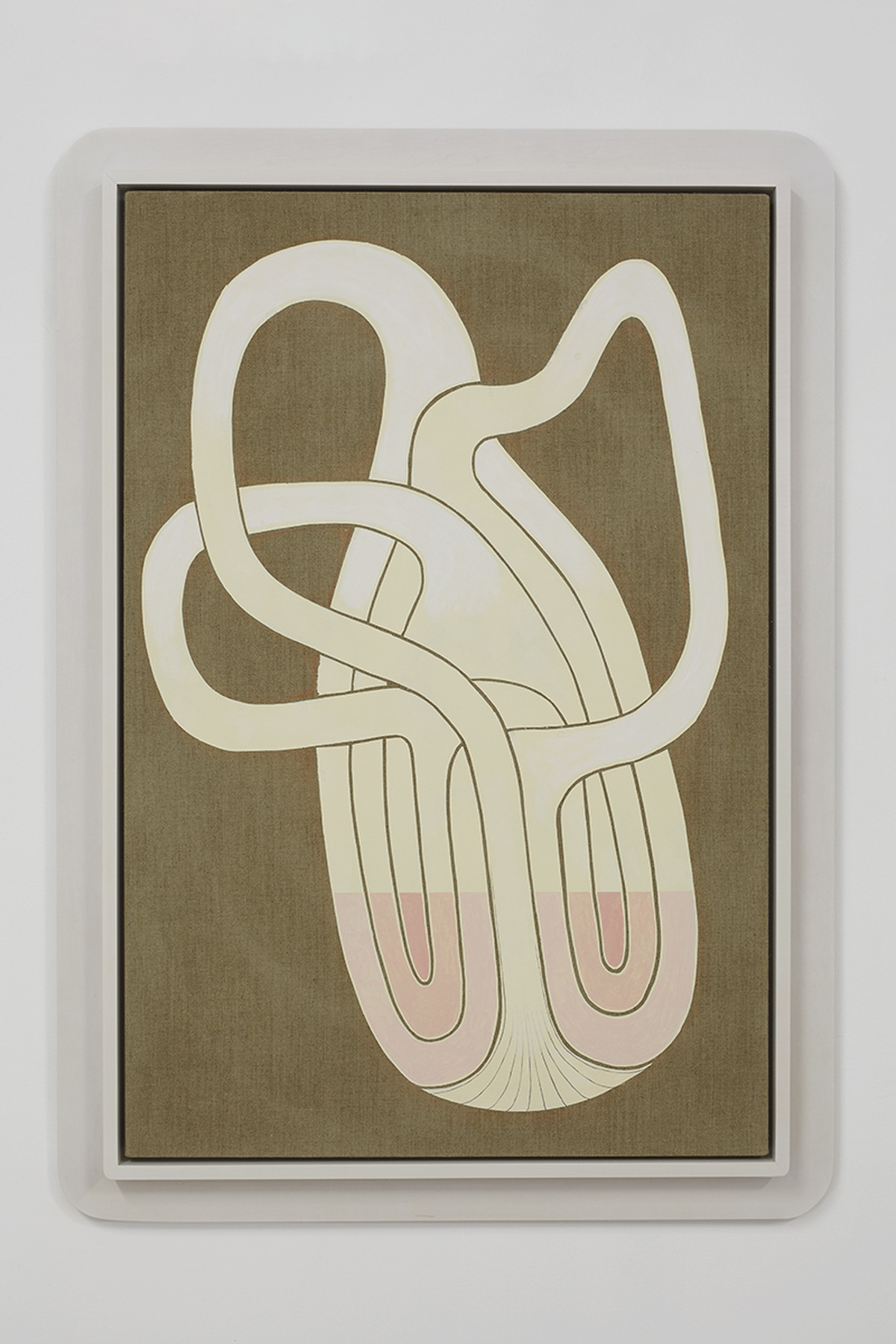 23.Hoeber_Triple Klein Bottle Cross Section, 2015_Flashe, colored pencil and acrylic on linen with artist's frame_48.5x34.5in