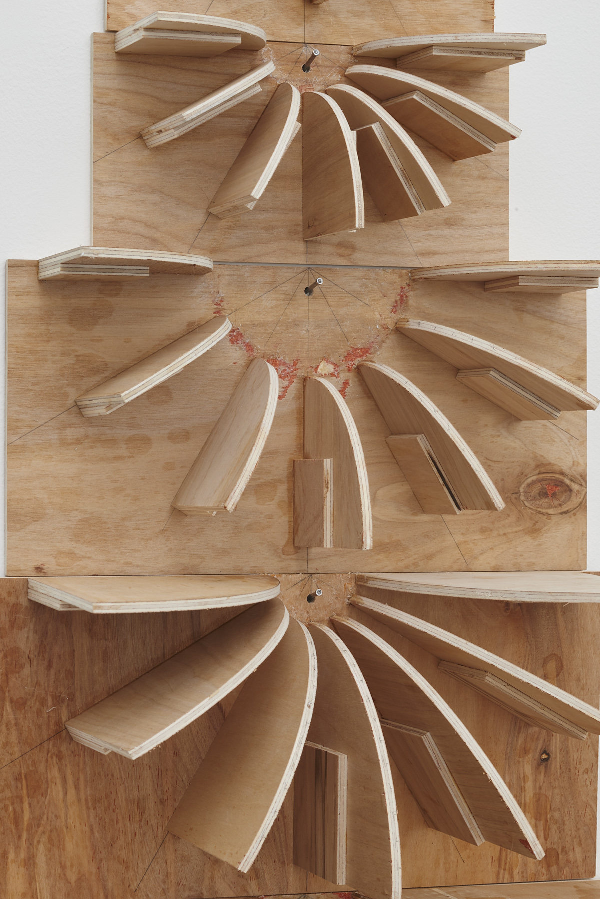 69.Hoeber_Negative Space Thought, 2015_Plywood, glue, shellac, popsicle sticks and nails