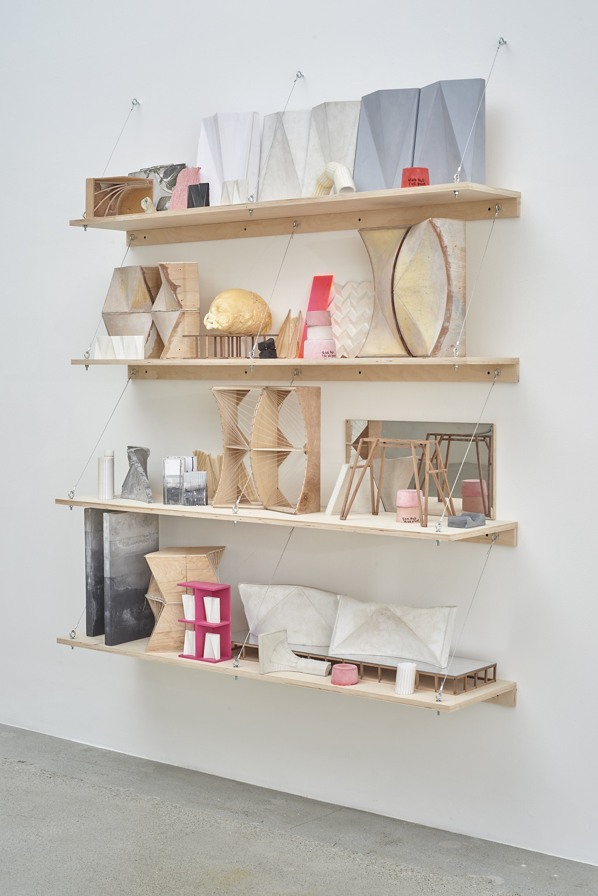 74.Hoeber_Form Index, 2015_Materials variable_Installed dimensions variable; Shelving unit - 72x60x14 in_alt view
