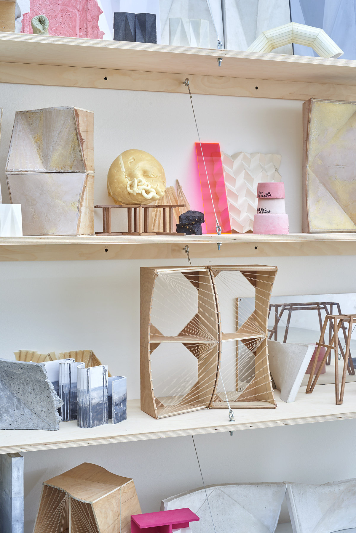 75.Hoeber_Form Index, 2015_Materials variable_Installed dimensions variable; Shelving unit - 72x60x14 in_detail