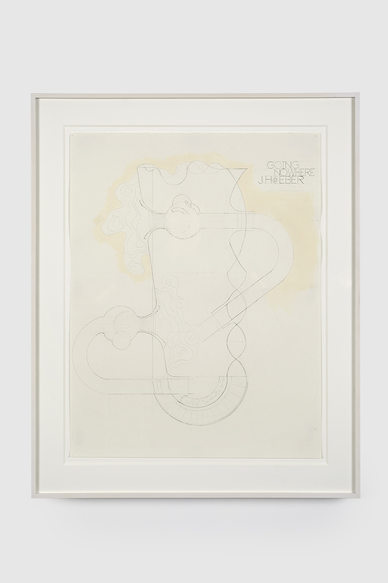 78.Hoeber_Going Nowhere Plan, version 2, 2015_Graphite and flashe on paper_22x17 in