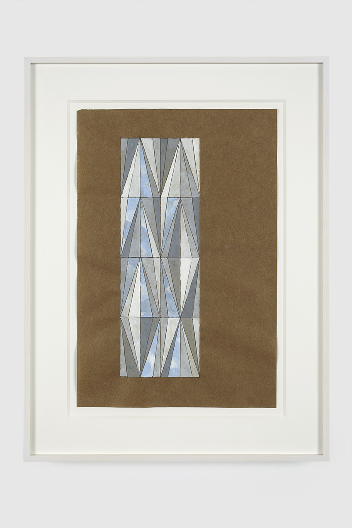 84.Hoeber_Bas-Relief Tile and Facade, 2015_Gouache and graphite on mulberry paper_15 x 10in