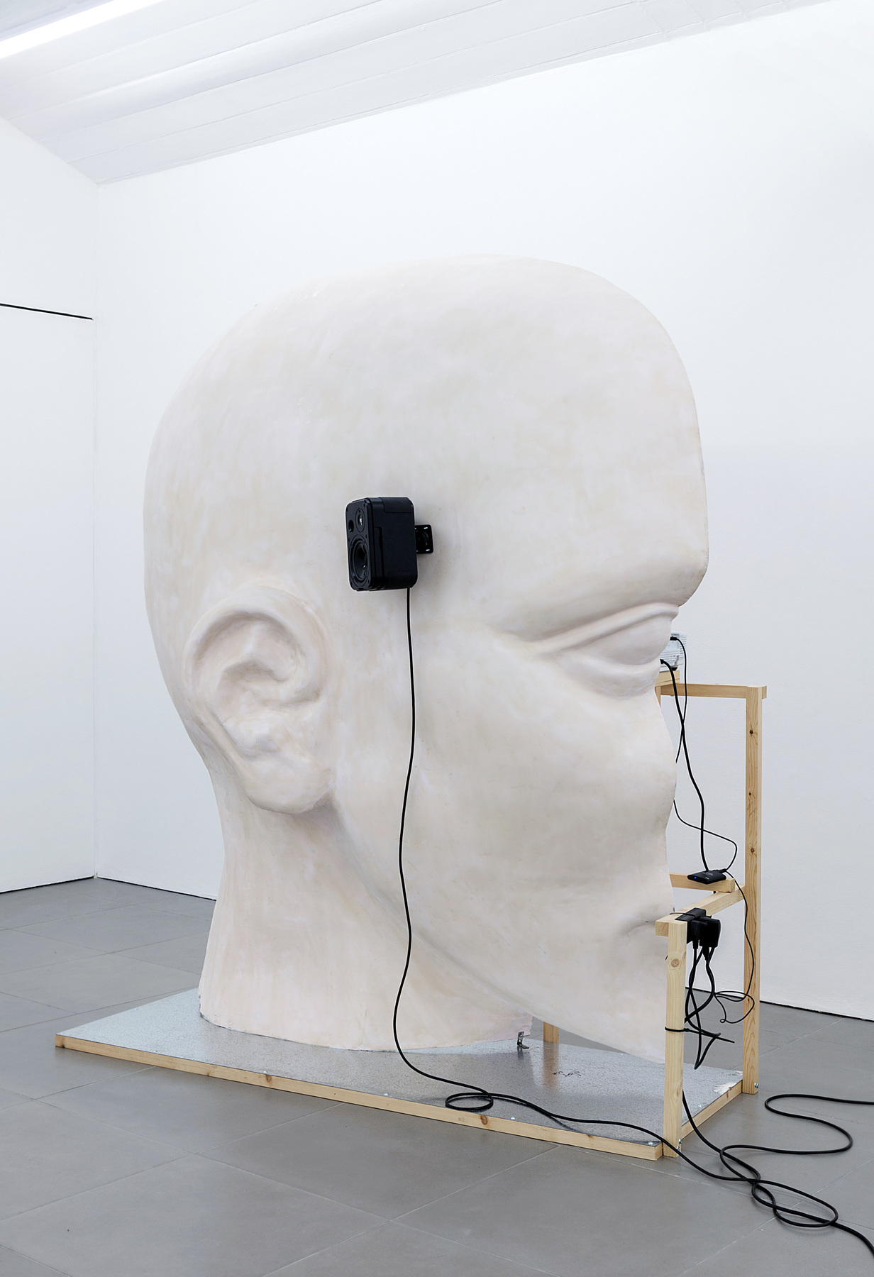 06. Anne de Vries, SUBMISSION 2015, wood, metal, fibreglass resin, audio, video