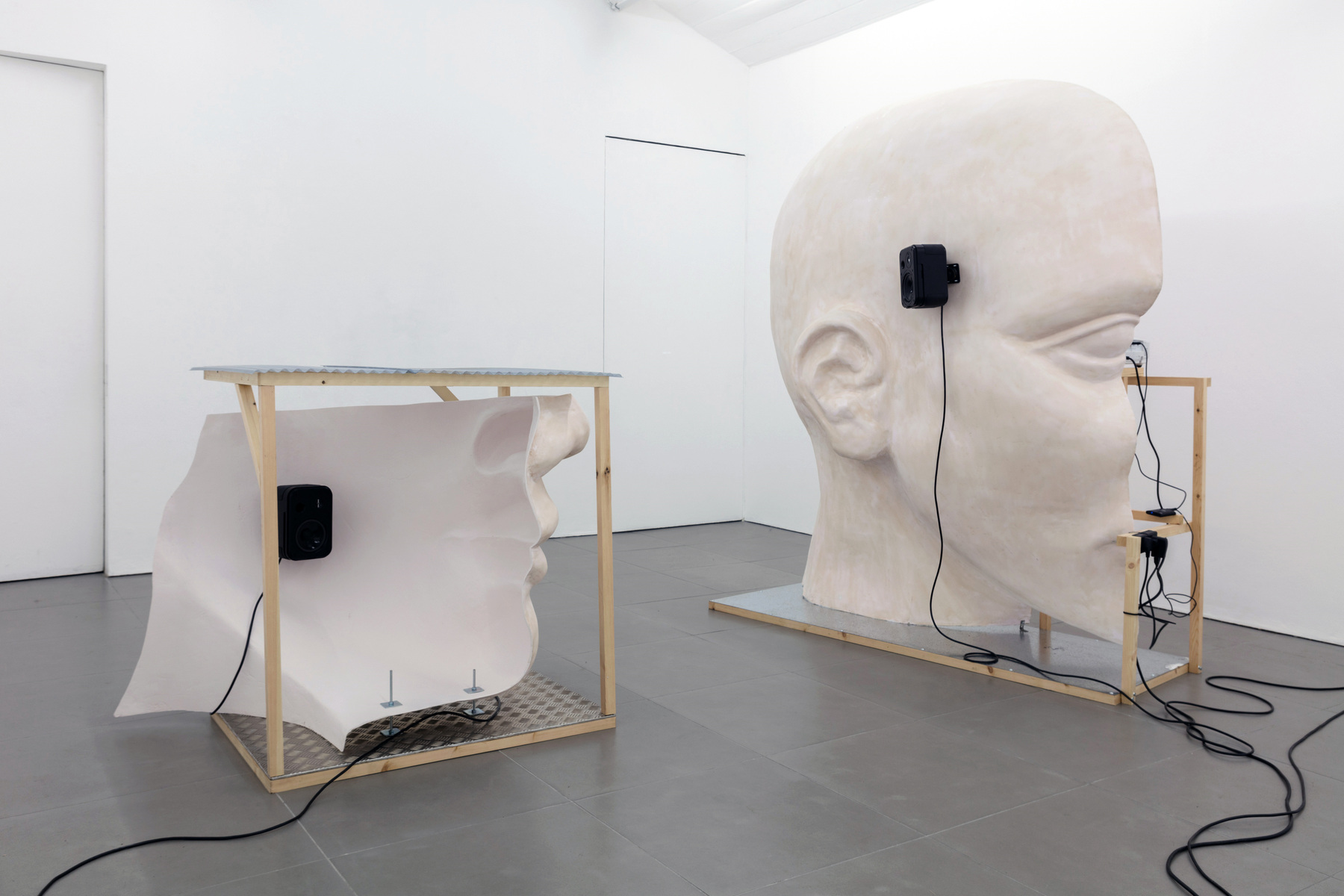 12. Anne de Vries, SUBMISSION 2015, wood, metal, fibreglass resin, audio, video