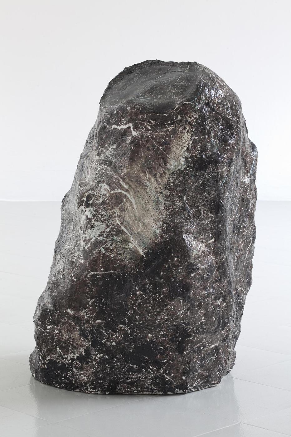 13 - Lindsay Lawson, Clara's Stone, 2016, Foam, super super molda, paper, glue, varnish, water transfer print, 80x45x84 cm