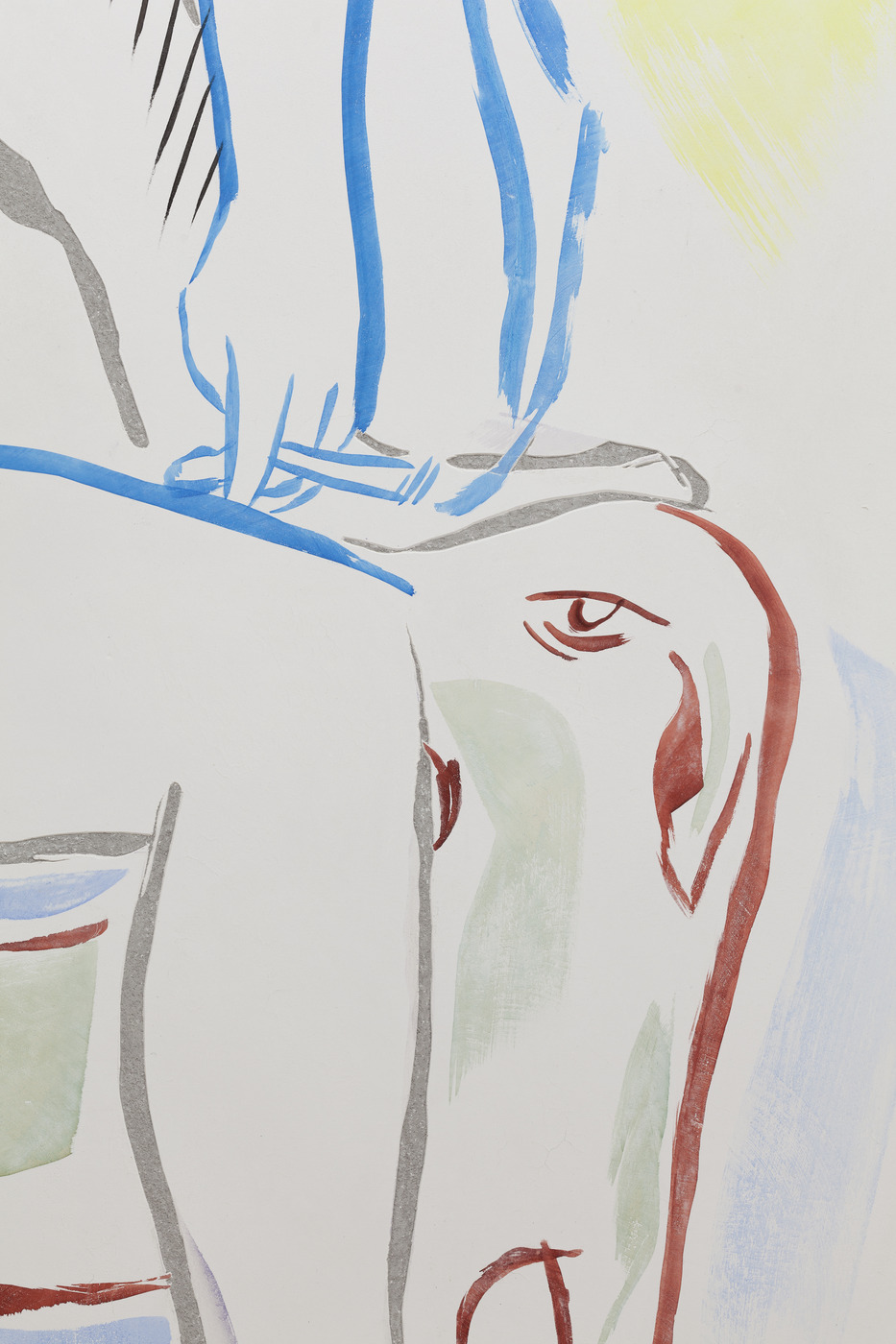 3. Camille Henrot, It is a Poor Heart That Never Rejoinces.Fresco, detail, 2016