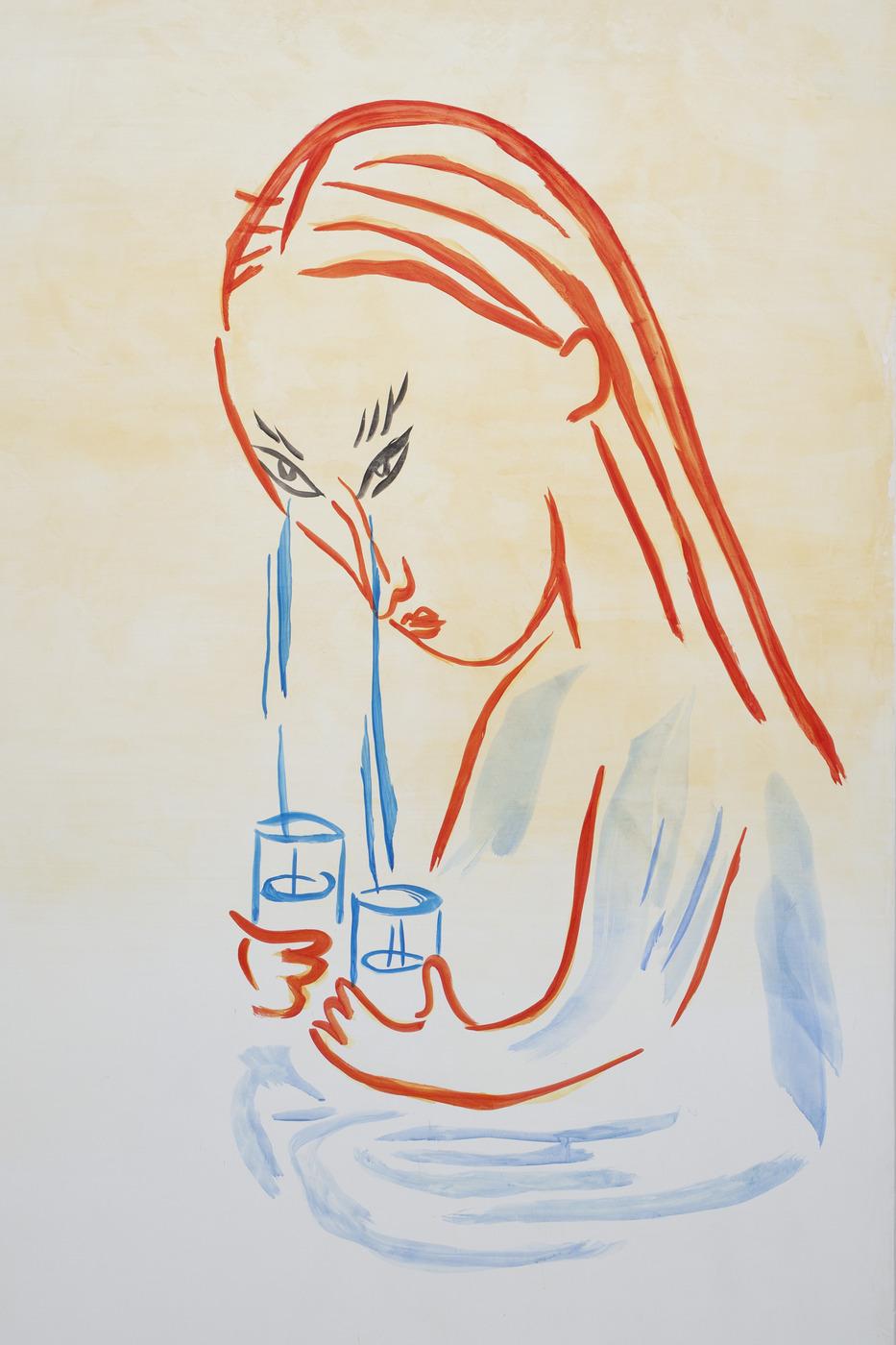 8. Camille Henrot, A Long Face, Fresco, detail, 2016