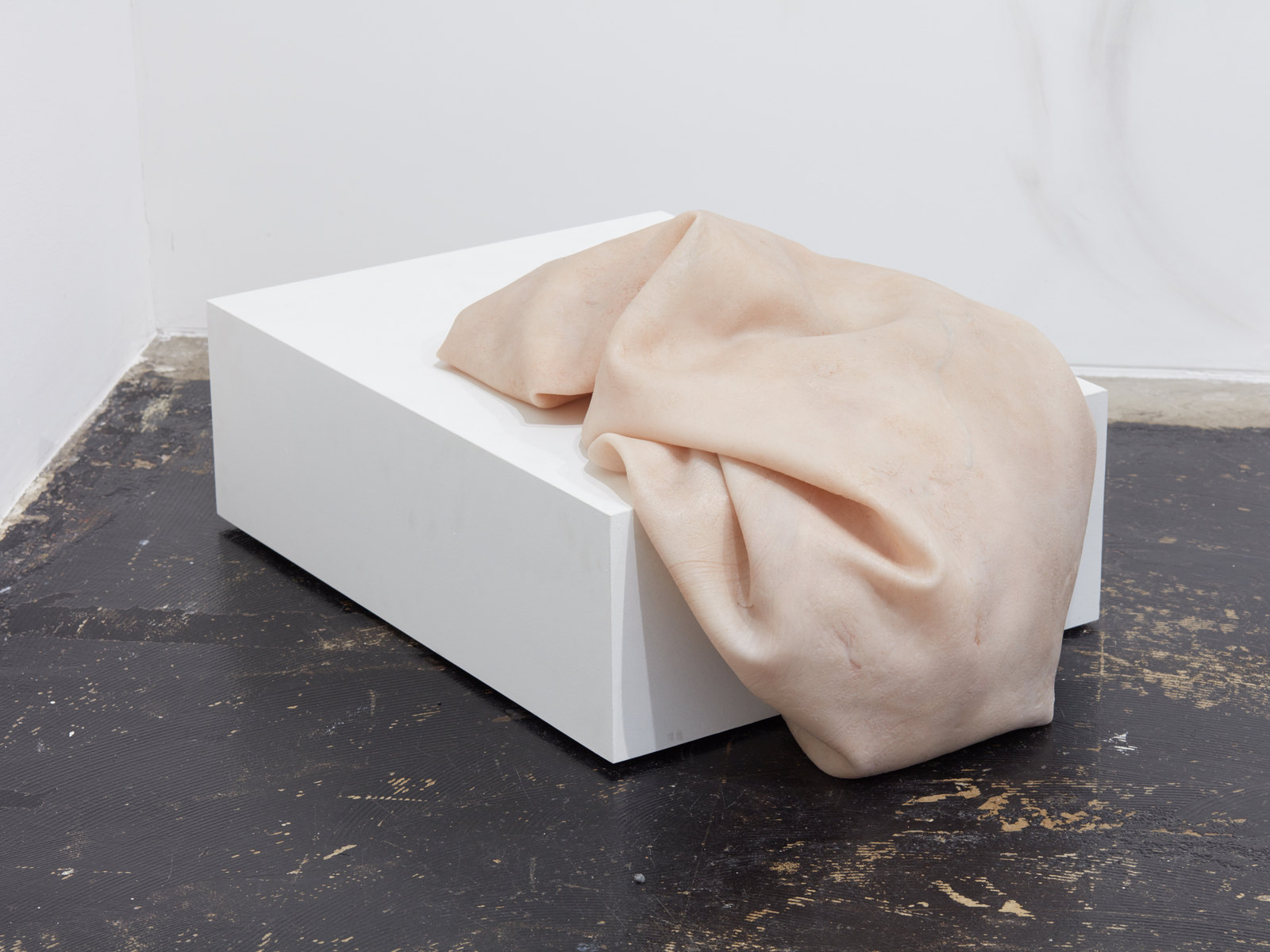 Ivana Basic, In my scarred fevered skin you see the end. In your healthy flesh I see the same, 2016, Archival silicone, 24 x 16 x 14 in, 60 x 40 x 35 cm