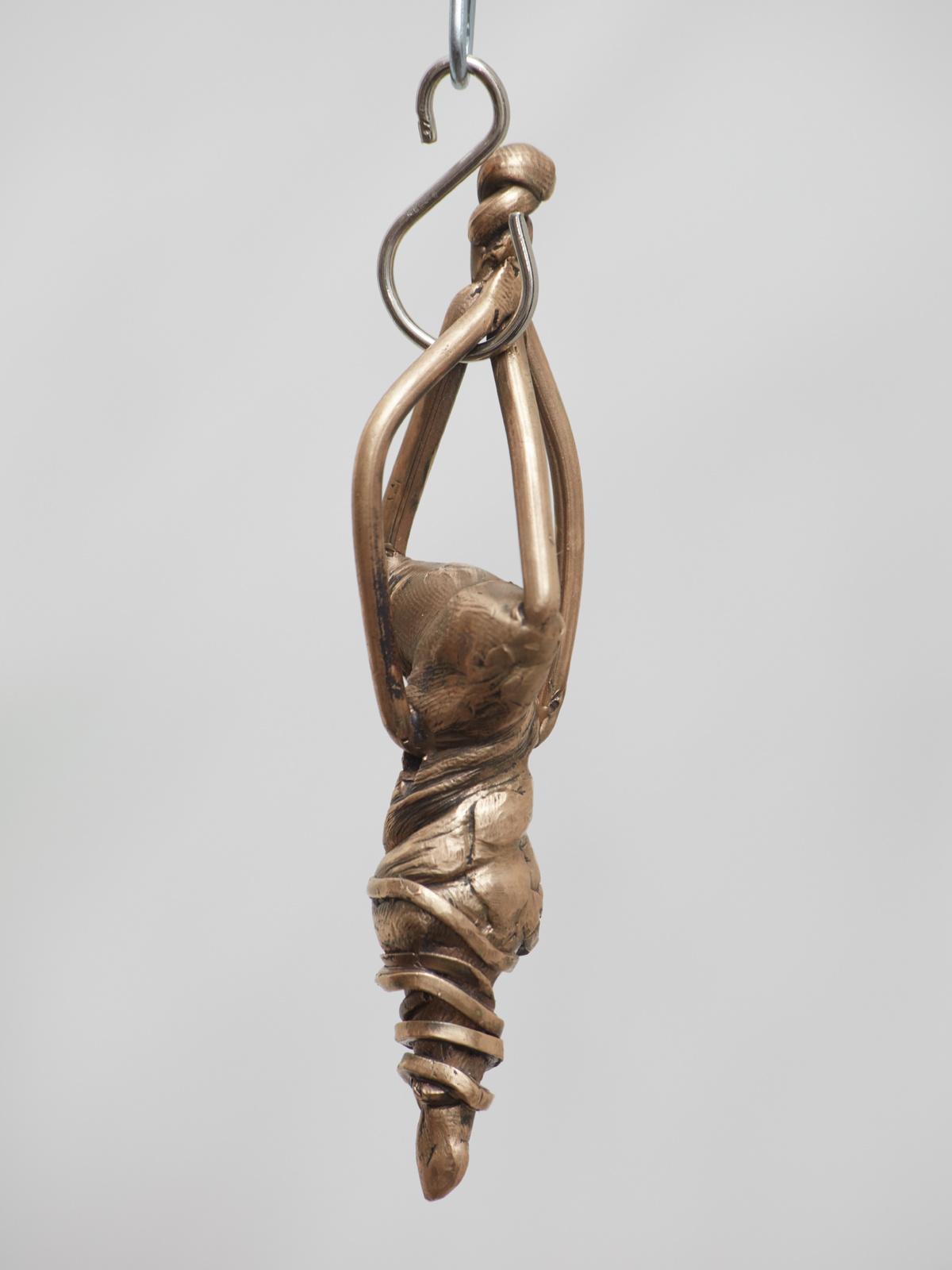 Jaakko Pallasvuo, Pendant II, 2016, Bronze, 4 x 1 x 1 in, 9 x 3 x 2 cm