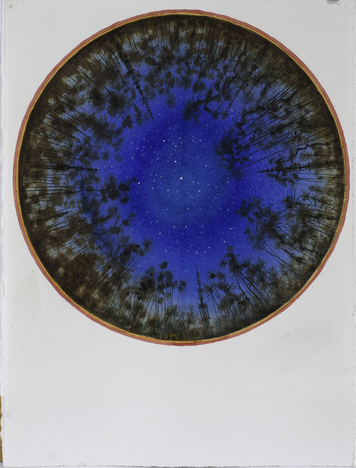 GUPE 15 Sin título, 2013, Acuarela, 38,5 x 57,5 cm