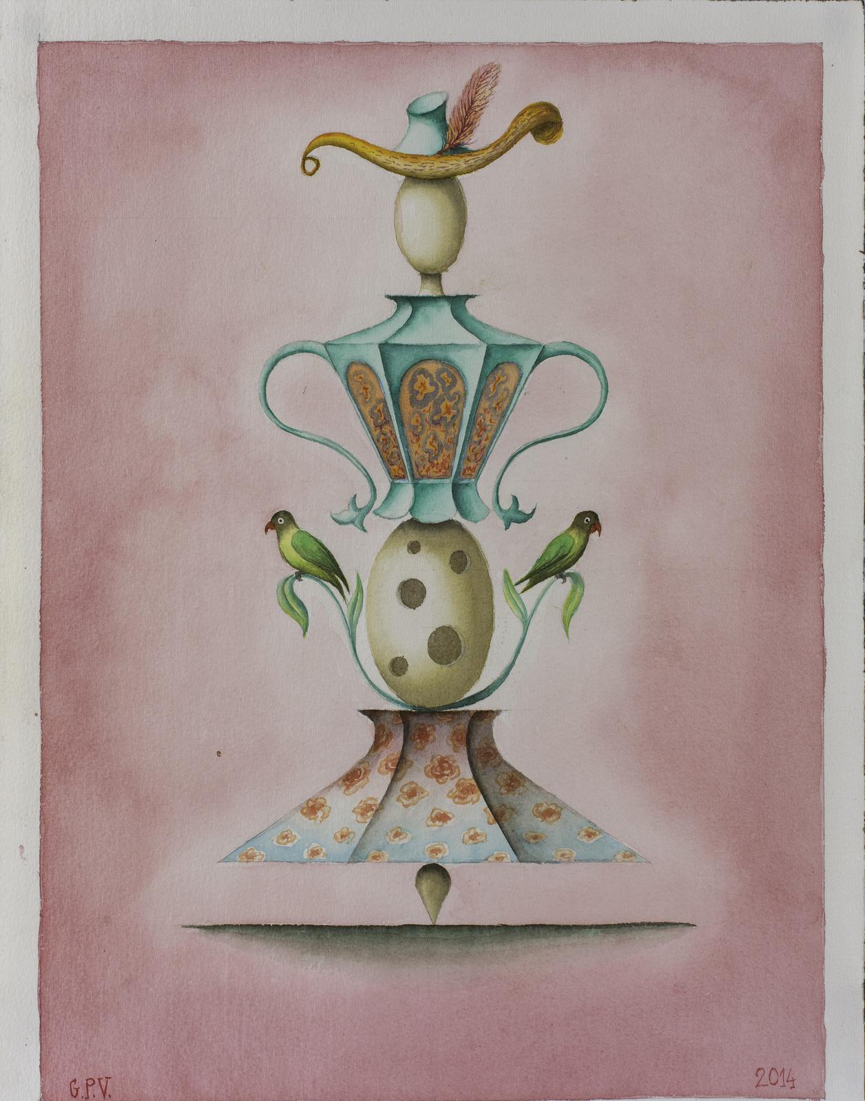 GUPE 6. Sin titulo, 2014, Acuarela, 41 x 31 cm