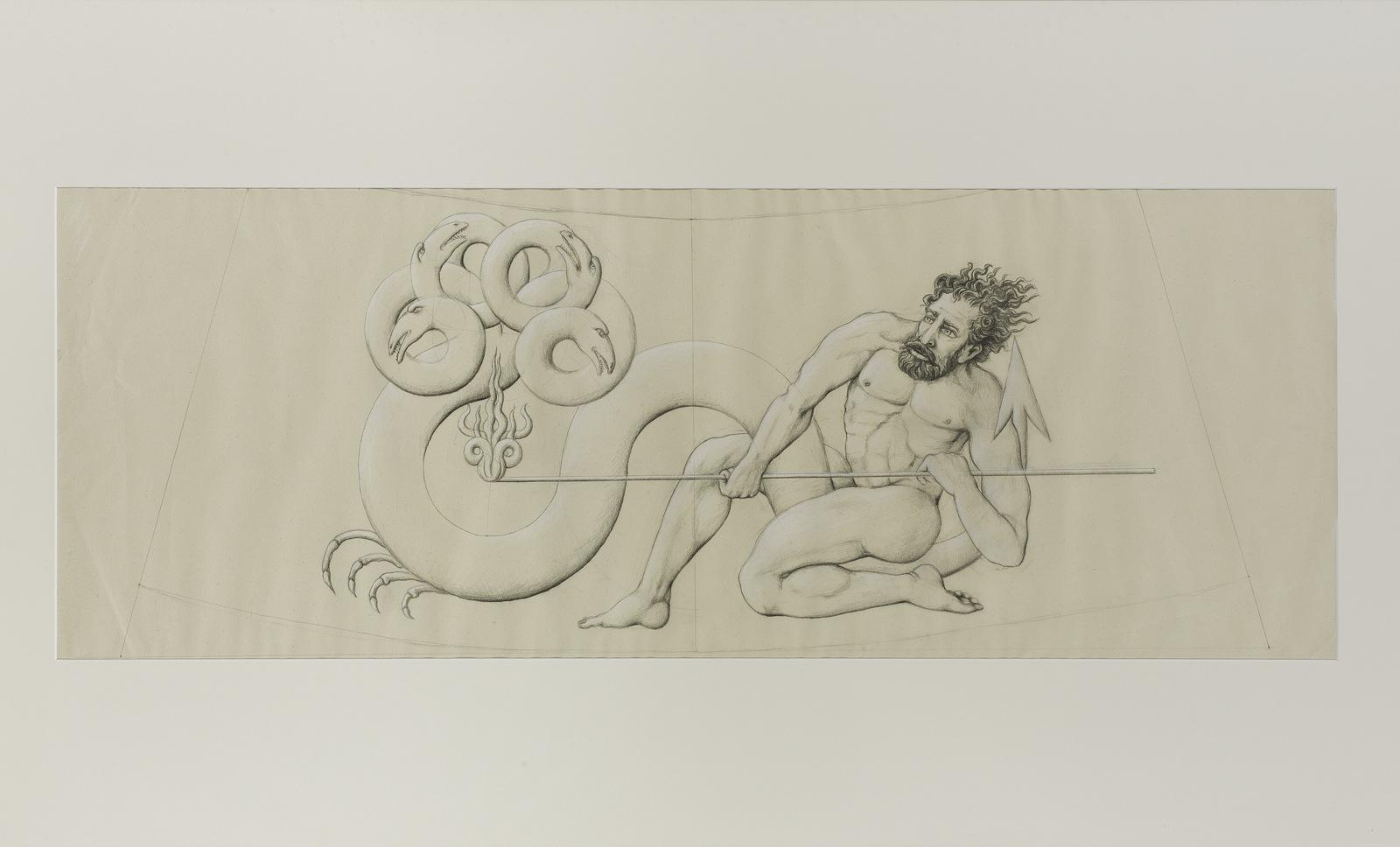 GUPE Escorpio (Serie Zodiaco), 1991. Grafito sobre papel. 75,5 x 130 x 4 cm