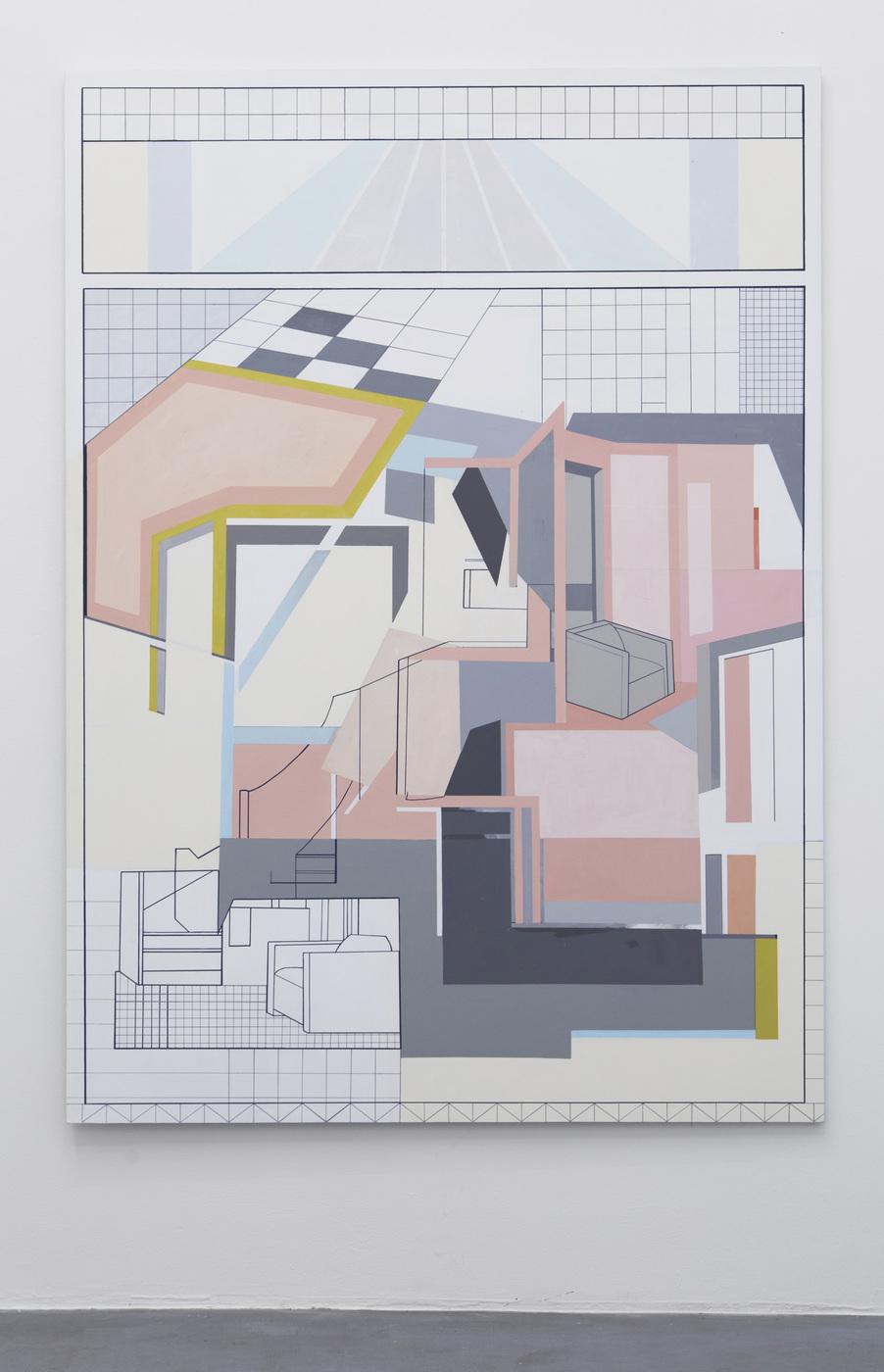 6_installation_view_AE_Pink_Studio_2016_195x120cm_acryliconcanvas