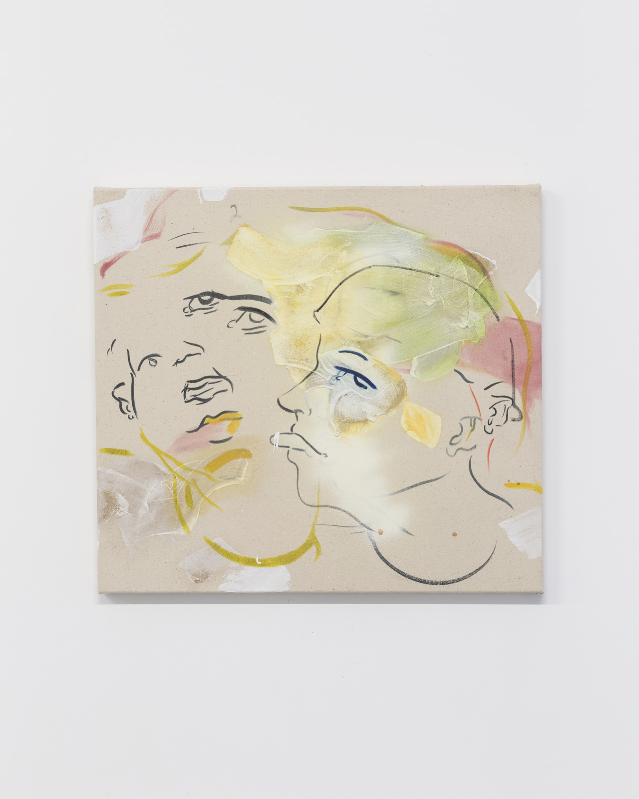 France-Lise McGurn, Cruel Intentions, 2016, gesso, oil, acrylic and spray paint on canvas, 60 x 66 cm