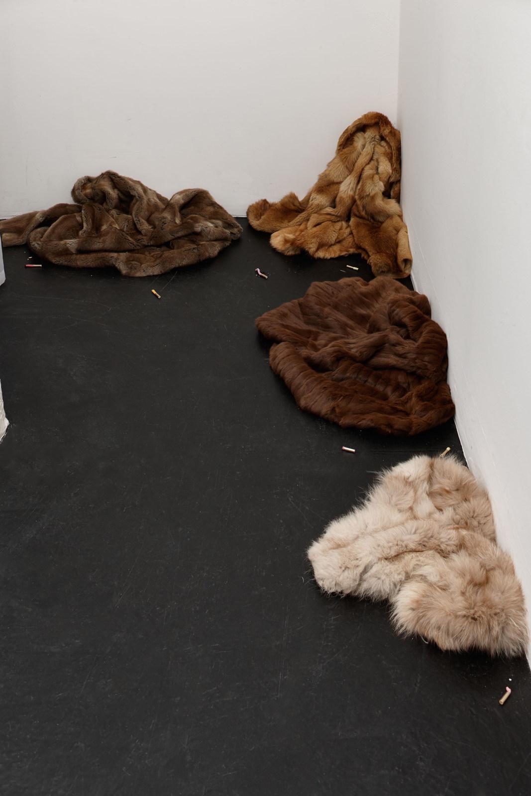 Zoe Williams - Pel remnants (Smoking in Furs) (Detail), 2016