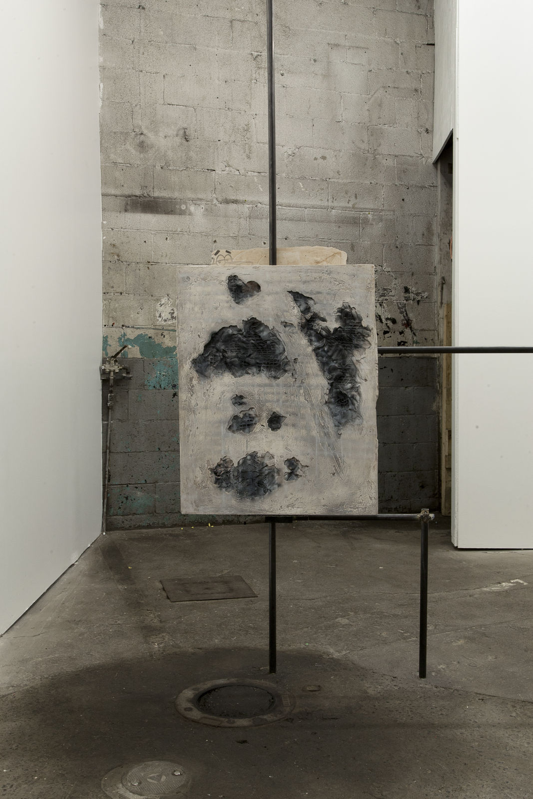 017_Brendan Flanagan. After Untitled 35. Plaster, Acrylic and Clay. 61 x 72 cm. 2016