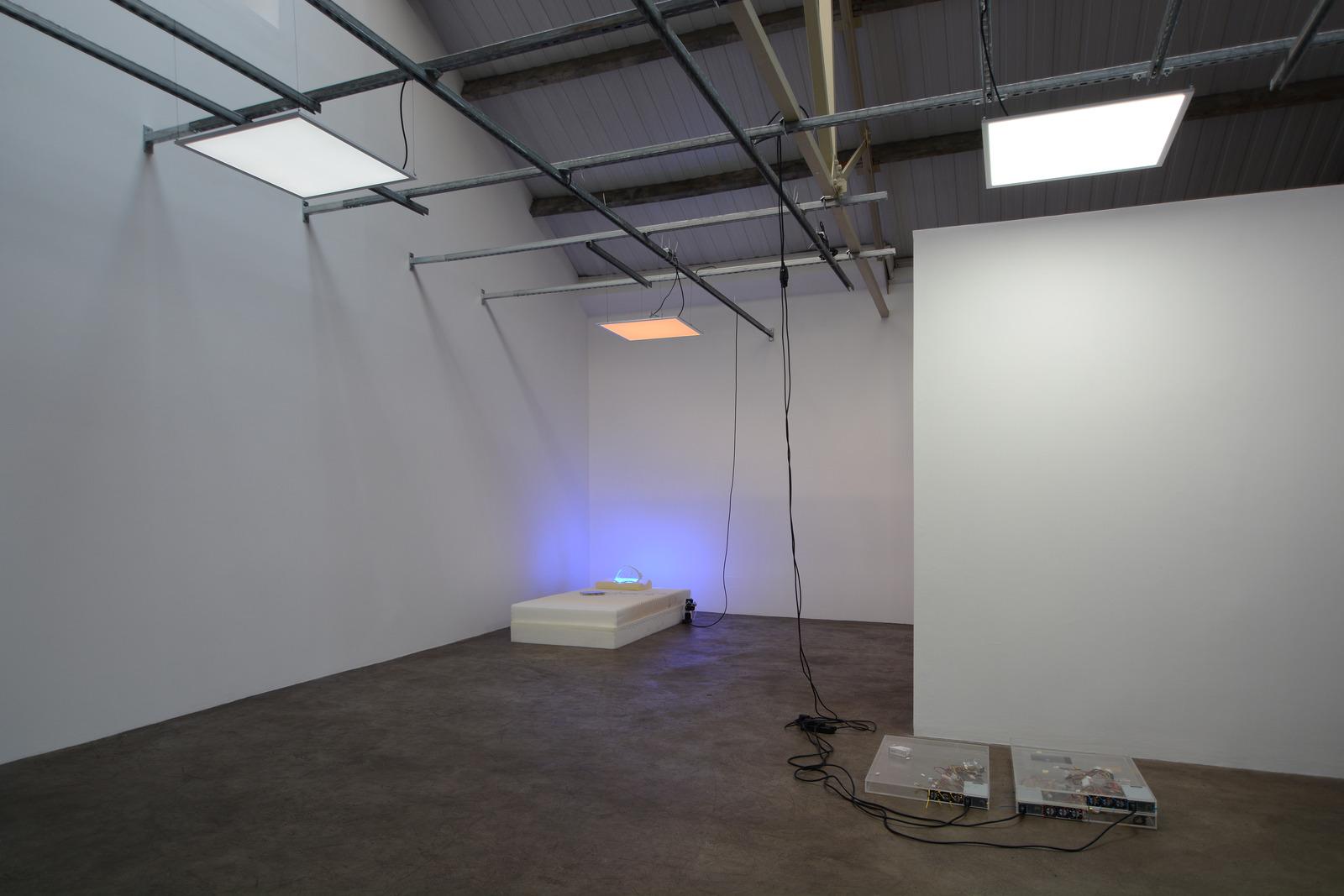 5. Yuri Pattison_sunset provision_installation view_memory foam remembers_dust,scraper, fan