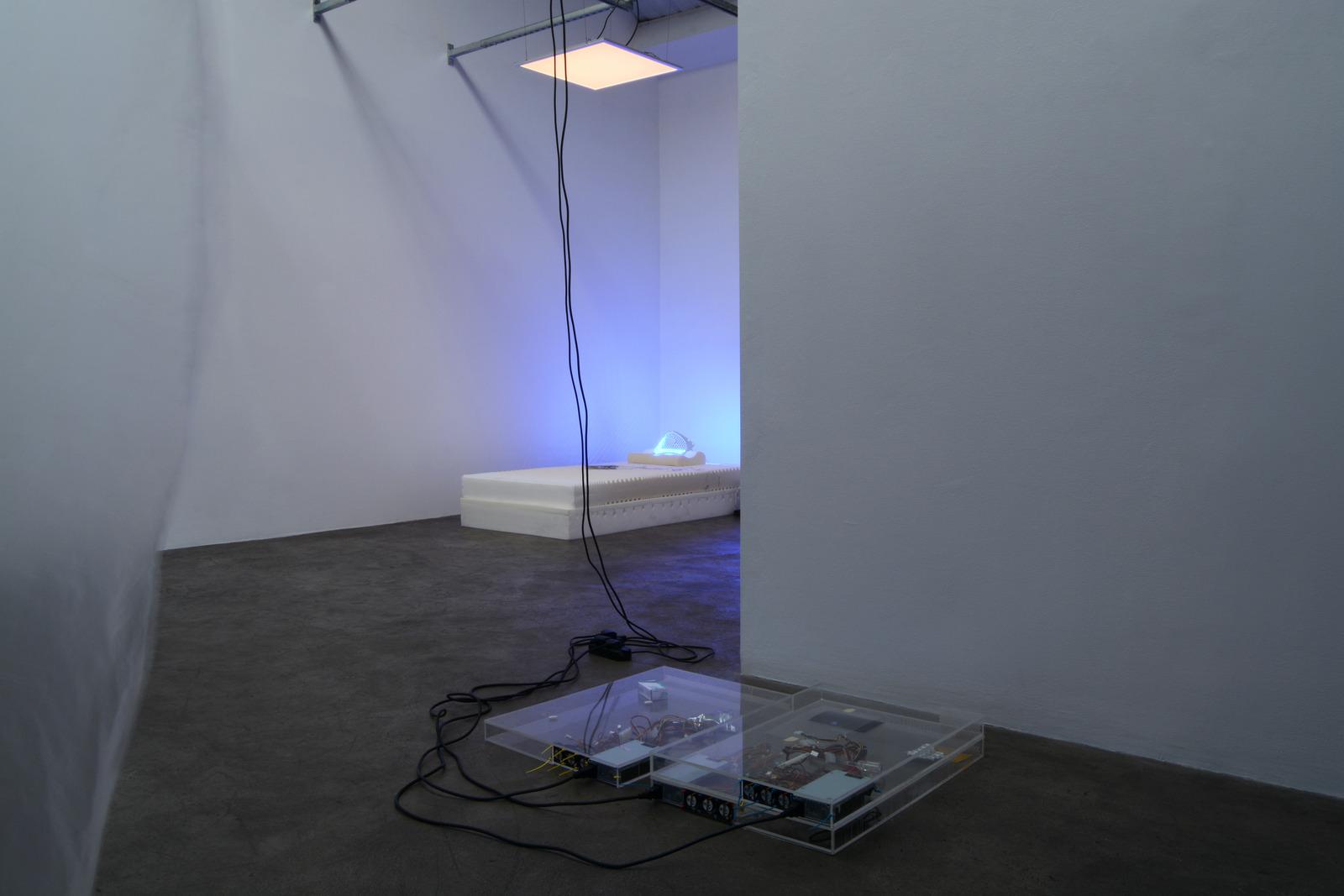 6. Yuri Pattison_sunset provision_installation view_memory foam remembers_dust,scraper, fan