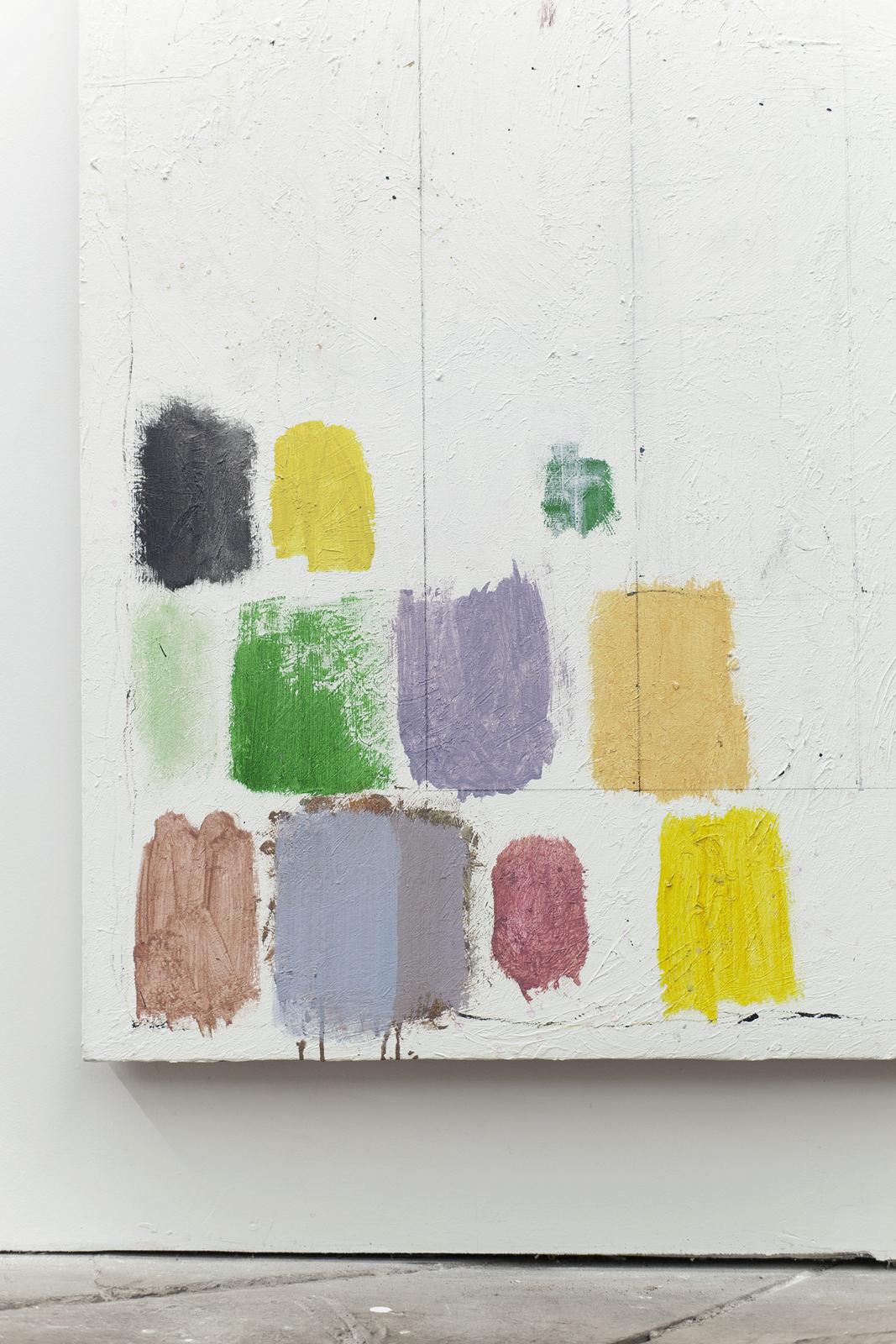 022_Jean-François Lauda. Untitled 39. Acrylic on canvas, collage, cigarette butt.213.5 x 183 cm. 2012_2016. (Detail)