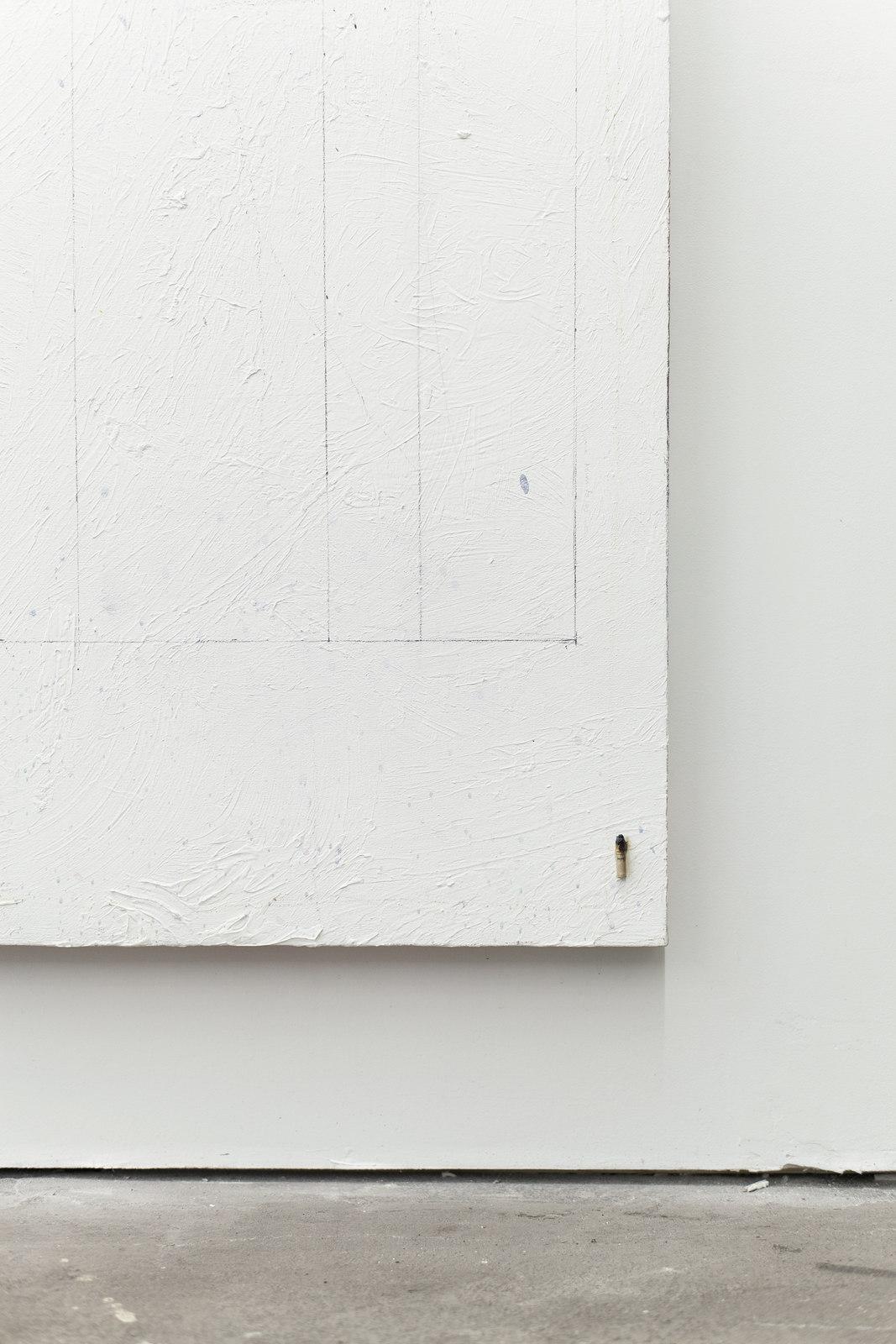 023_Jean-François Lauda. Untitled 39. Acrylic on canvas, collage, cigarette butt.213.5 x 183 cm. 2012_2016. (Detail)