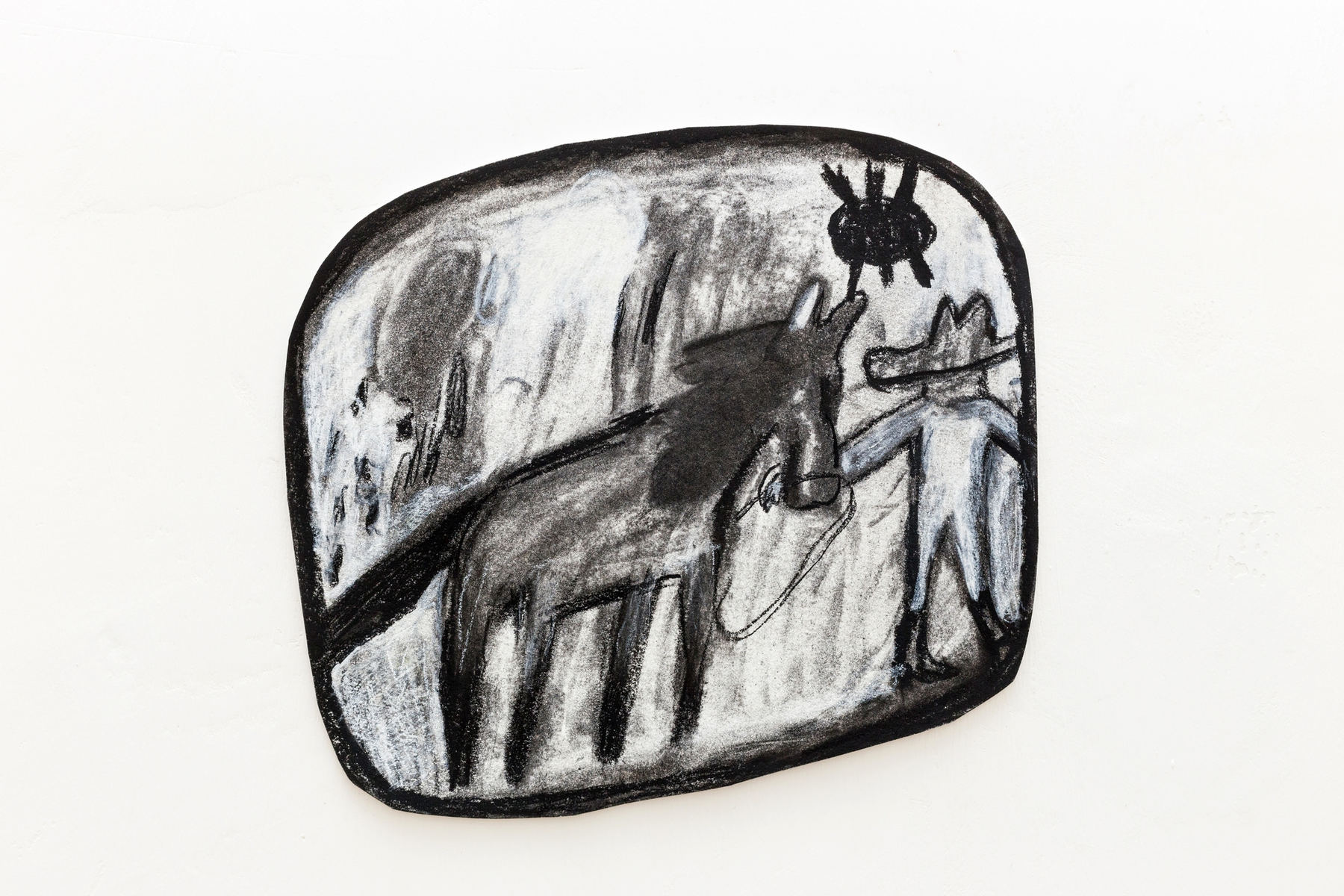 K.Lipscomb Leading a horse to water2016 charcoal and conte crayononpaper