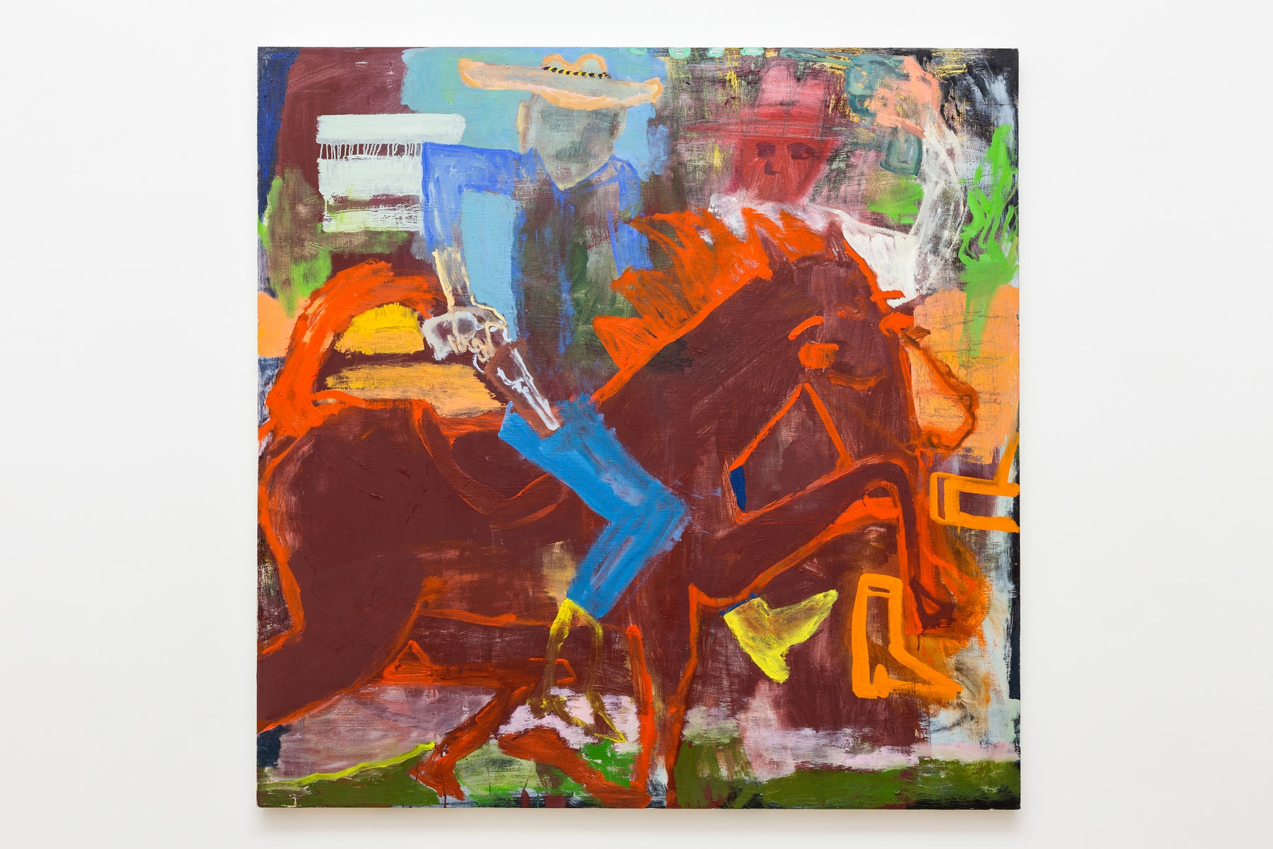 Katie Lipscomb Horse(s) and Rider(s) 122x122 cm