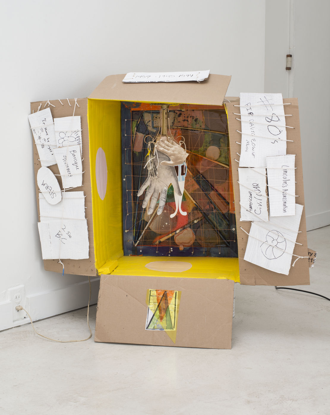 Molly Zuckerman Hartung, Small Town Mondrian, 2010 Oil On Canvas, 16 X 16 X  1 In (40.6 X 40.6 X 2.5 Cm)