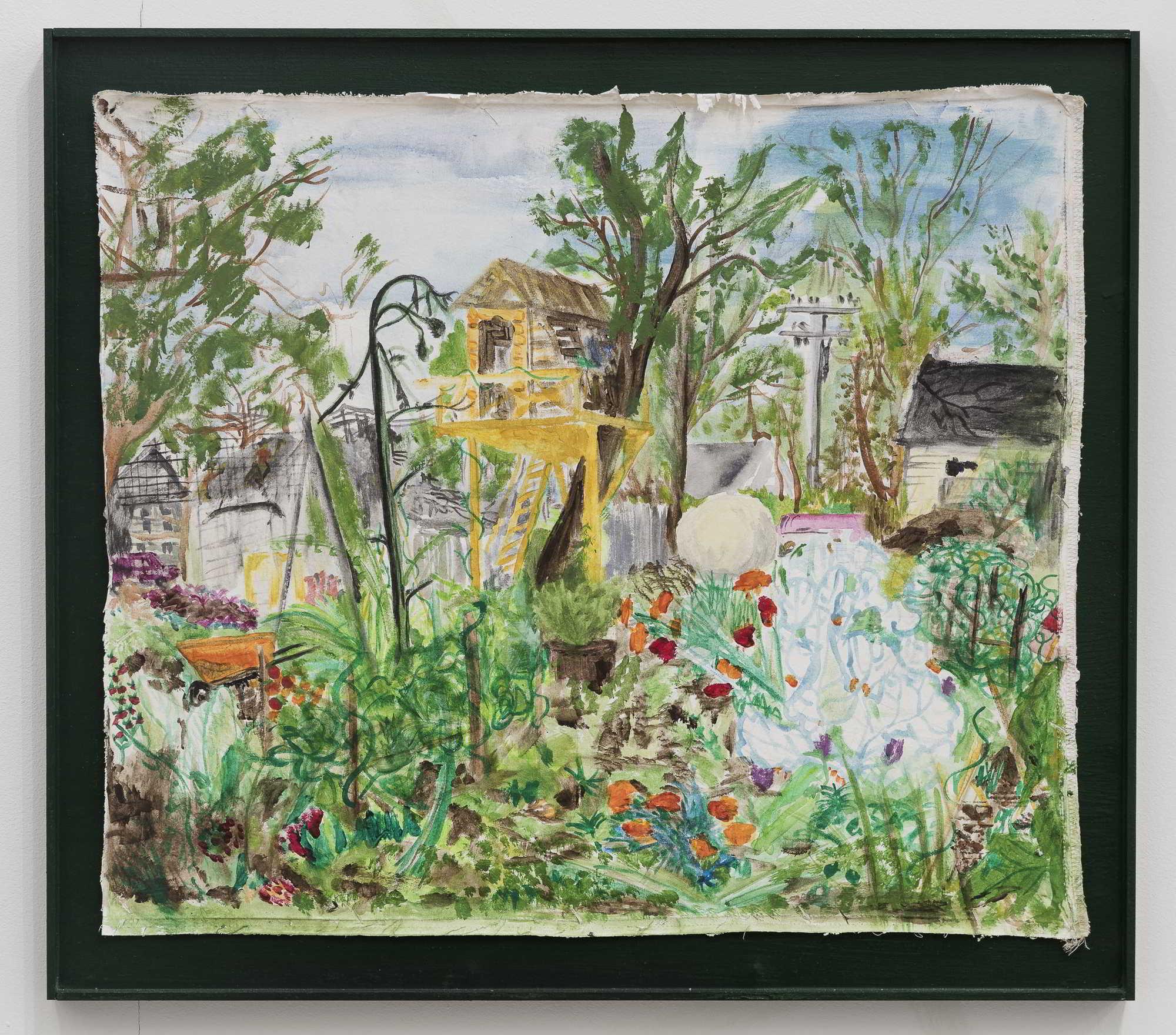 AnnaMcCarthy, Deanu0027s Arm + Garden_Detroit, 2017, Acryl On Fabric In Artists  Frame, 57x64cm