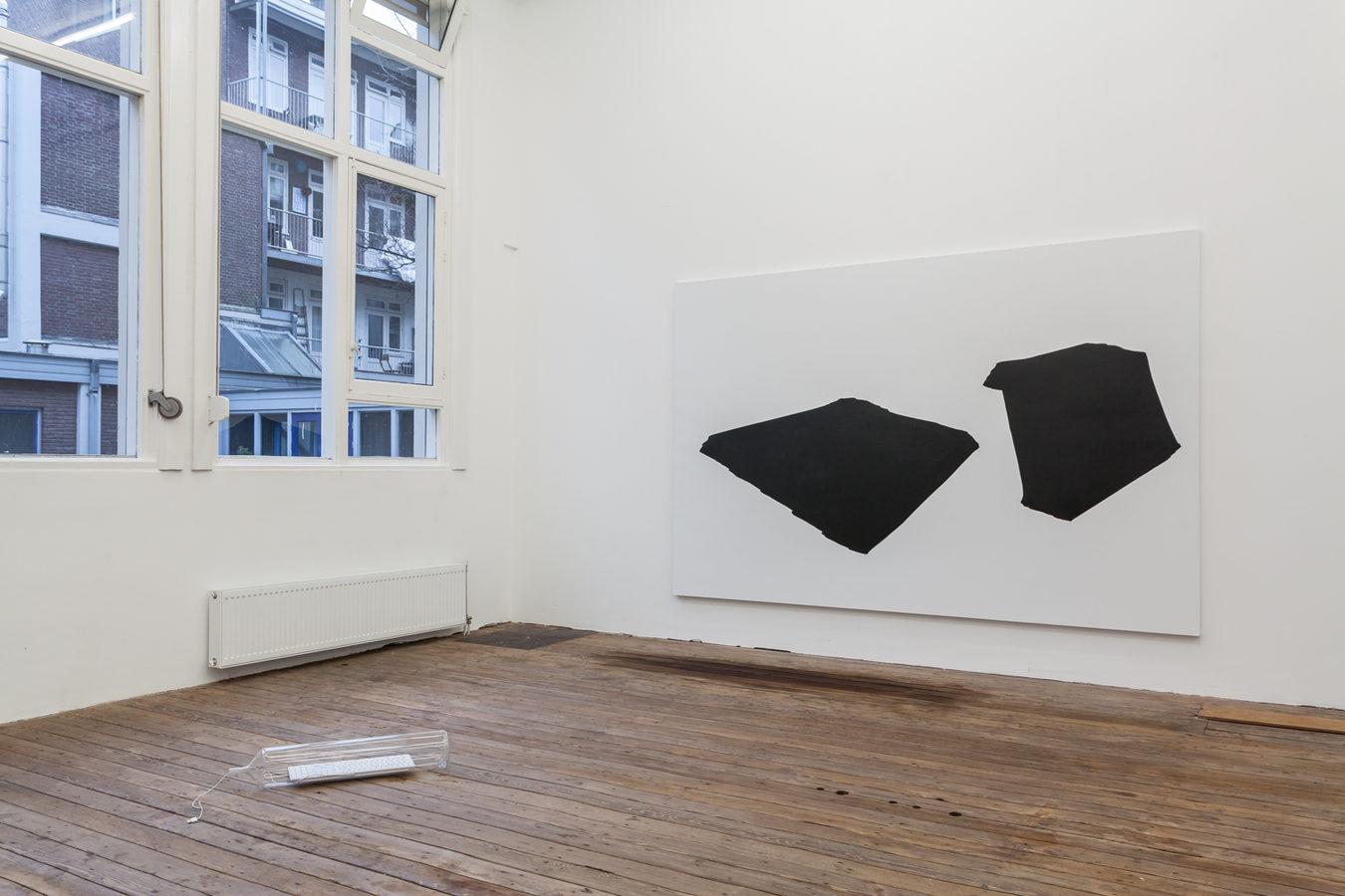 Installation view; Spiros Hadjidjanos, Sara Ludy, Priscilla Tea; Galerie Gabriel Rolt (2)