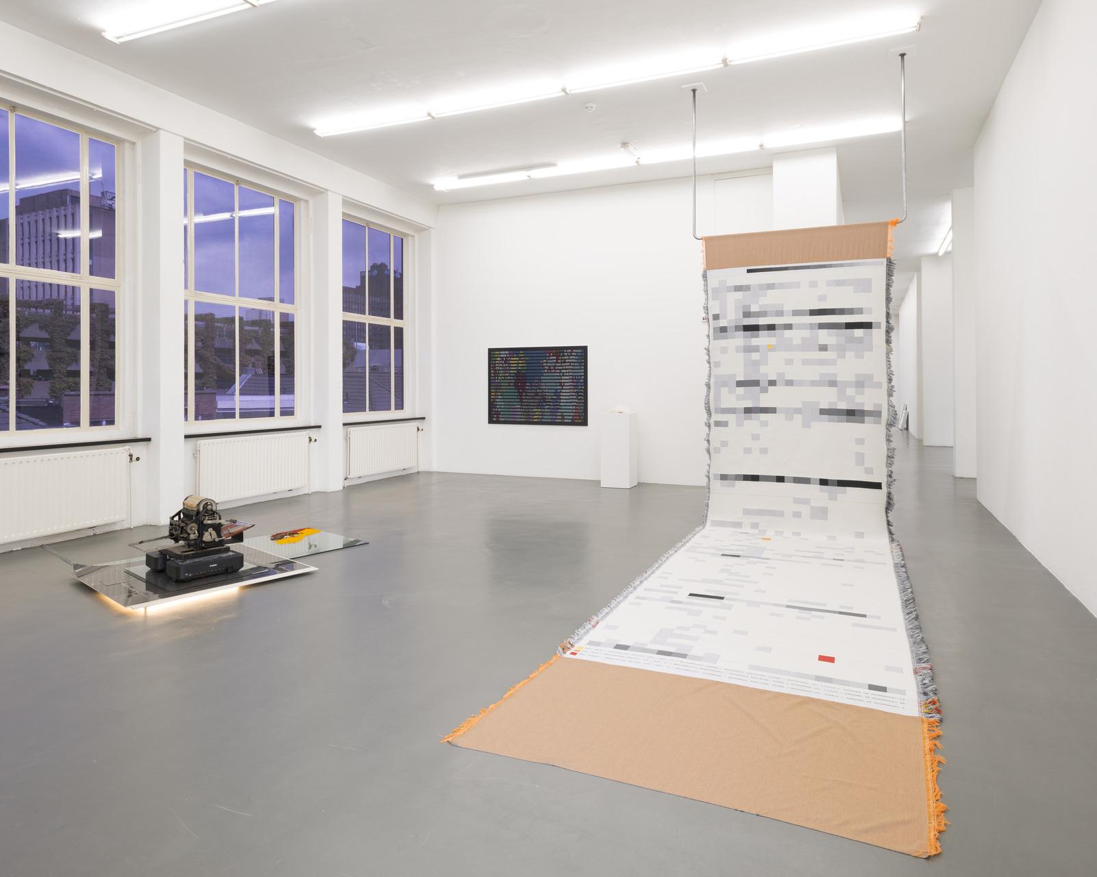 25_Installation view, Rossella Biscotti, David Jablonowski, John Menick
