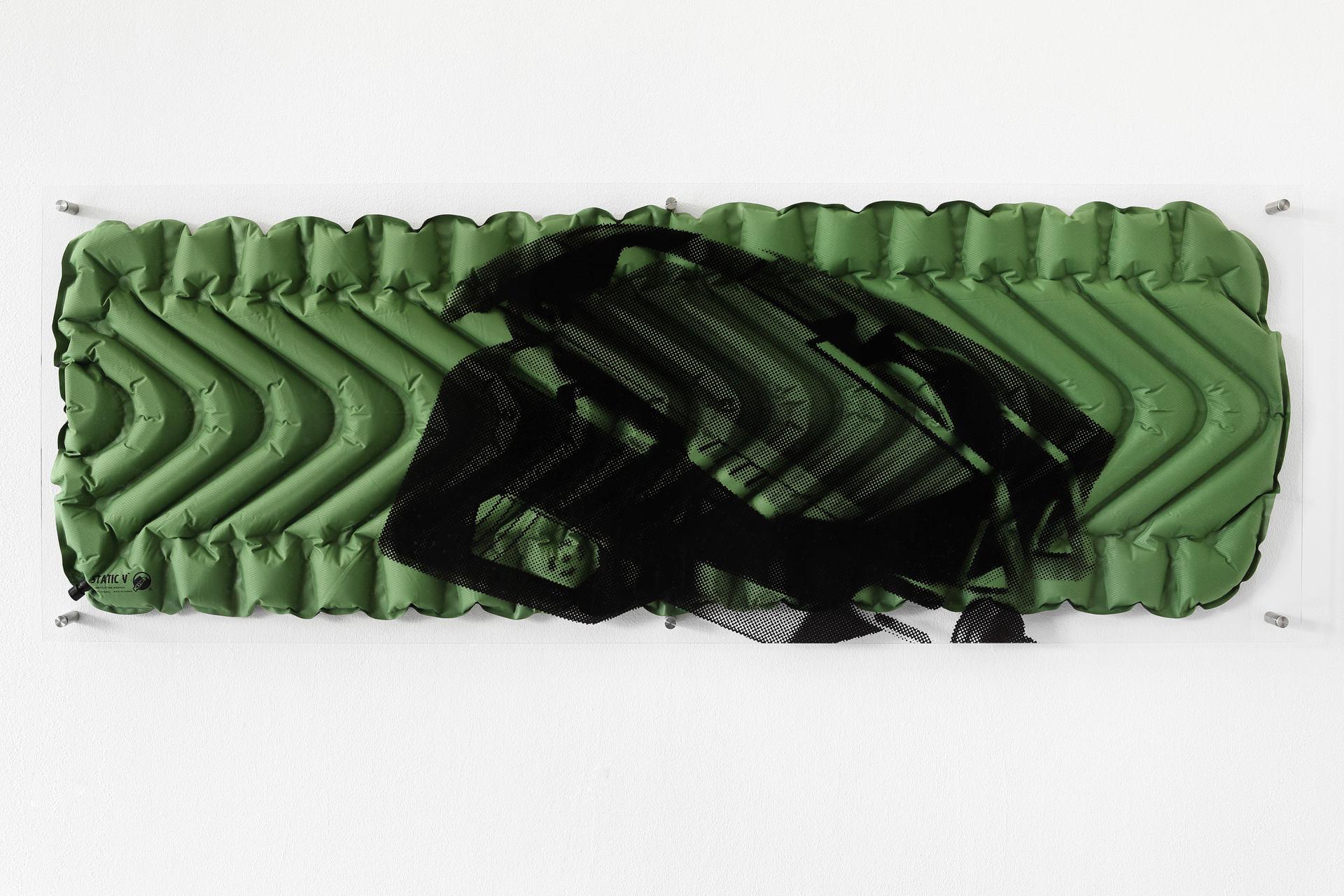 Static V, 2015, C-print on acrylic glass, synthetic fiber, steel
