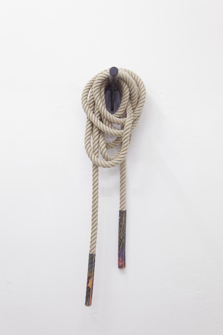 Techies #11, Hemprope, c-print on leather, steel