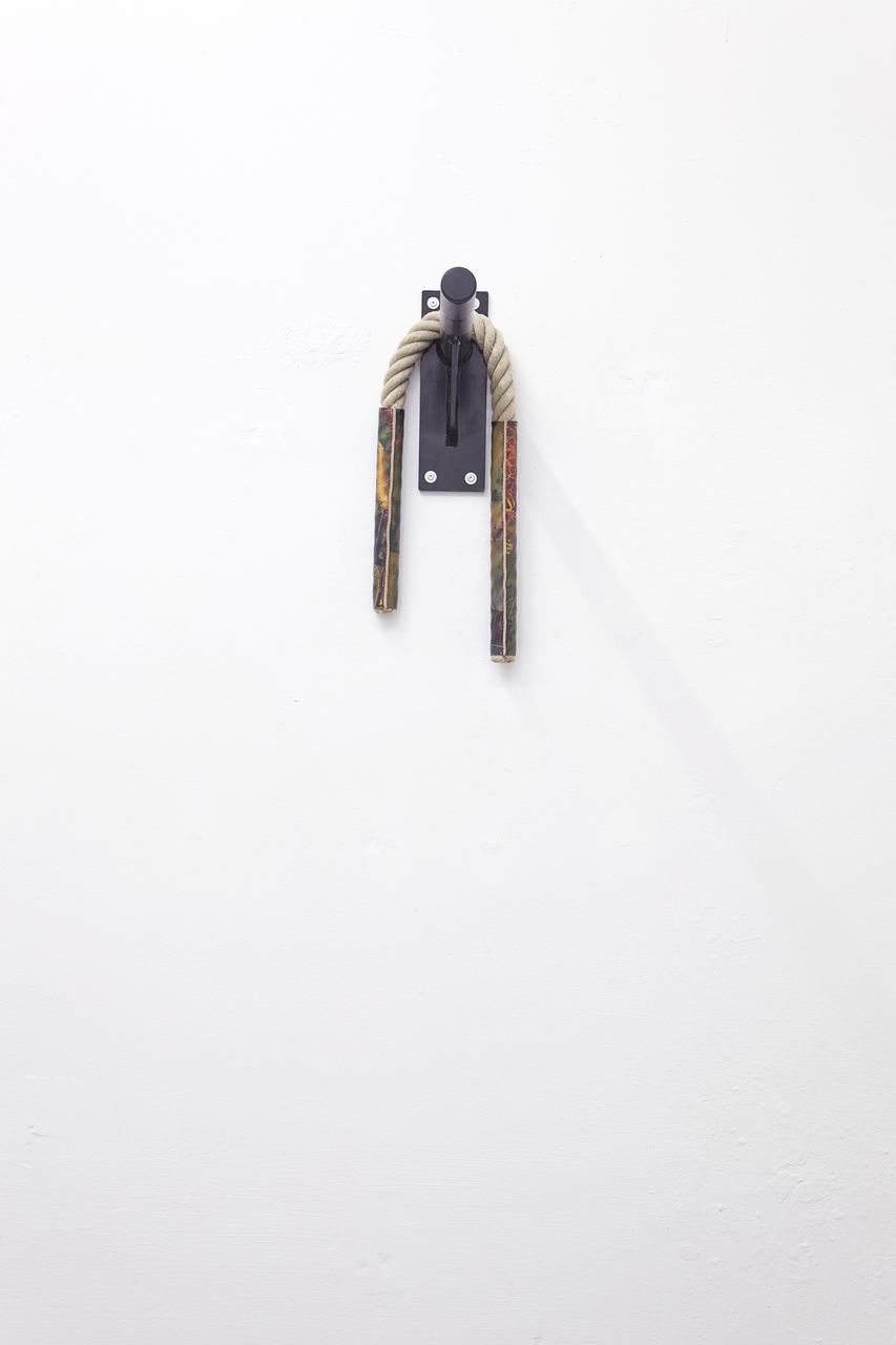 Techies #2, Hemprope, c-print on leather, steel