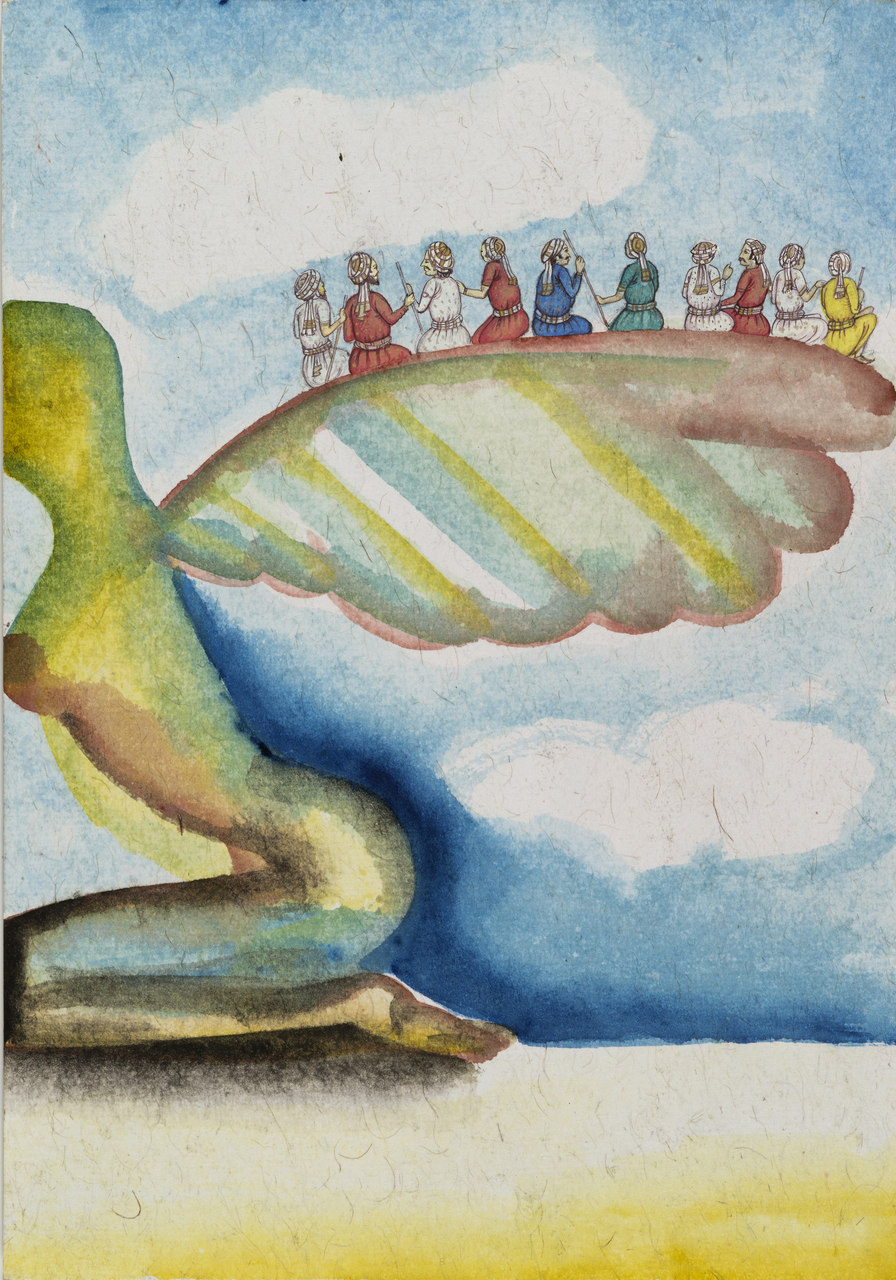 Francesco Clemente, Emblems of Transformation 3, 2014, Image courtesy the artist and BlainSouthern