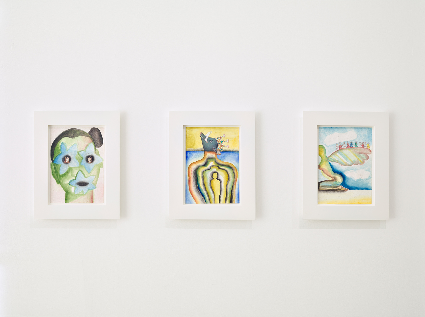 Francesco Clemente, Emblems of Transformation, Exhibition Installation Image 6, Image courtesy of BlainSouthern