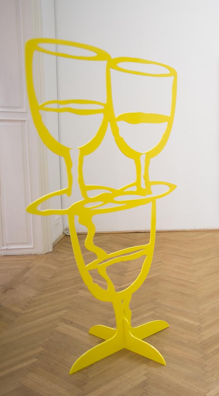 Razvan Boar_2015_Untitled Yellow_180x101cm_aluminium, powder paint_2015-rb-13